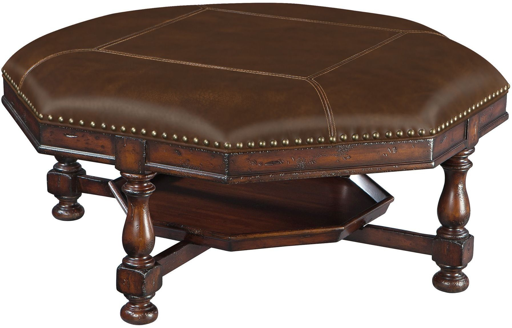 Havana Antique Brown Octagon Cocktail Table From Hekman