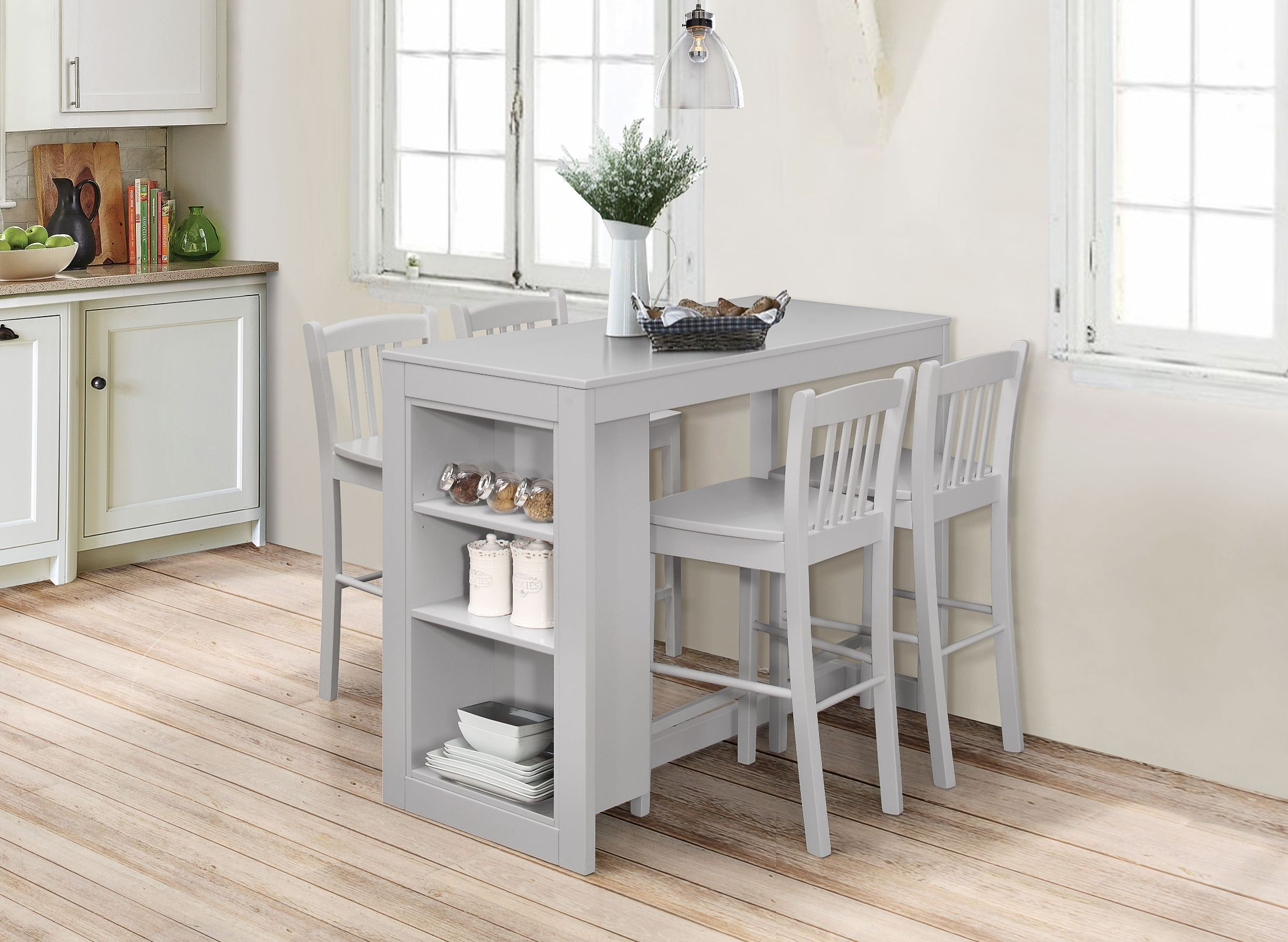 Tribeca Ash Grey Counter Height Dining Room Set from ...