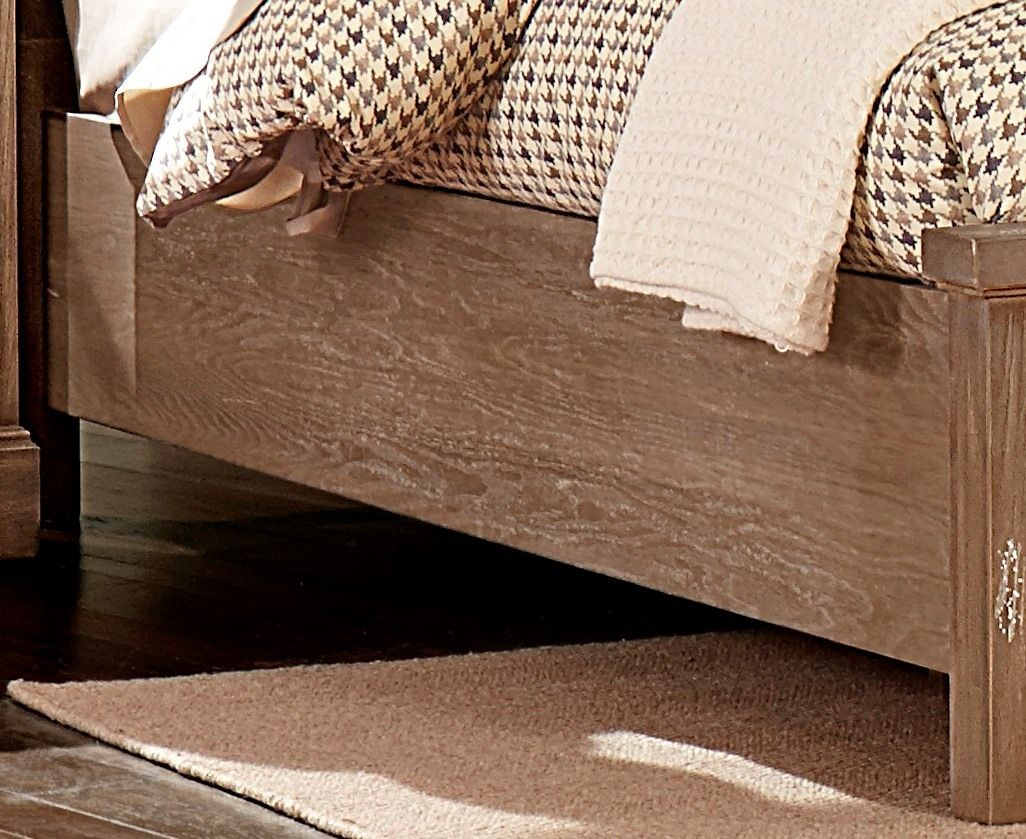 Whiskey Barrel Rustic Gray King Sleigh Bed