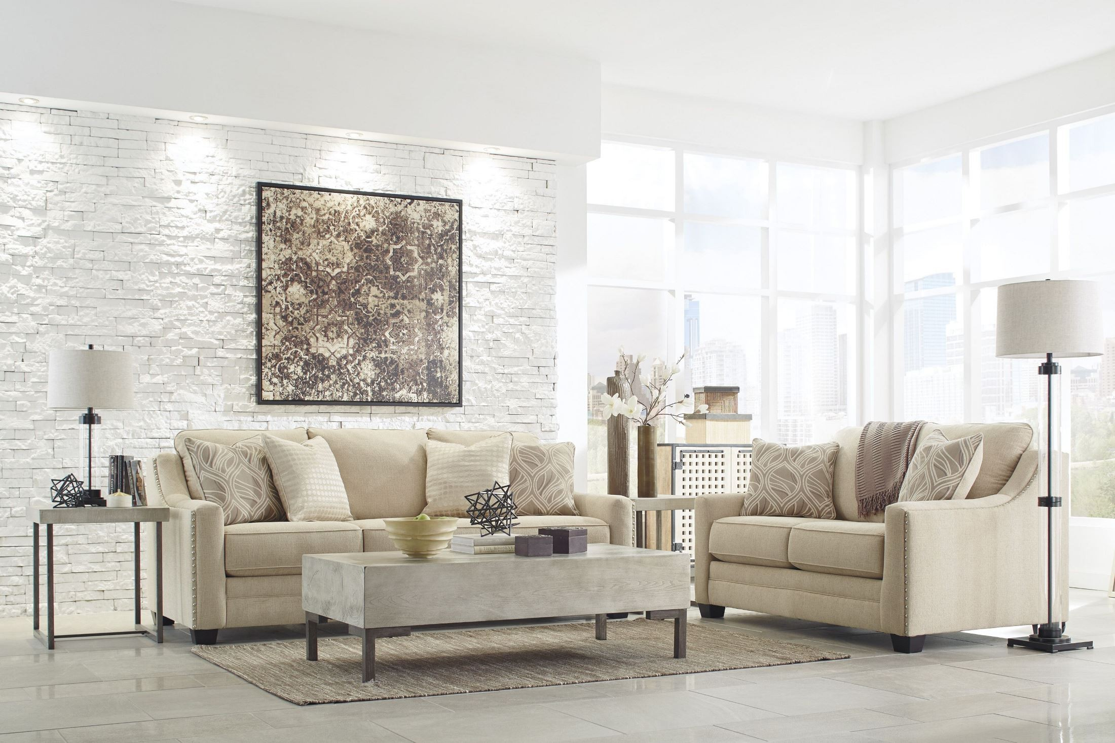 Mauricio Linen Living Room Set from Ashley