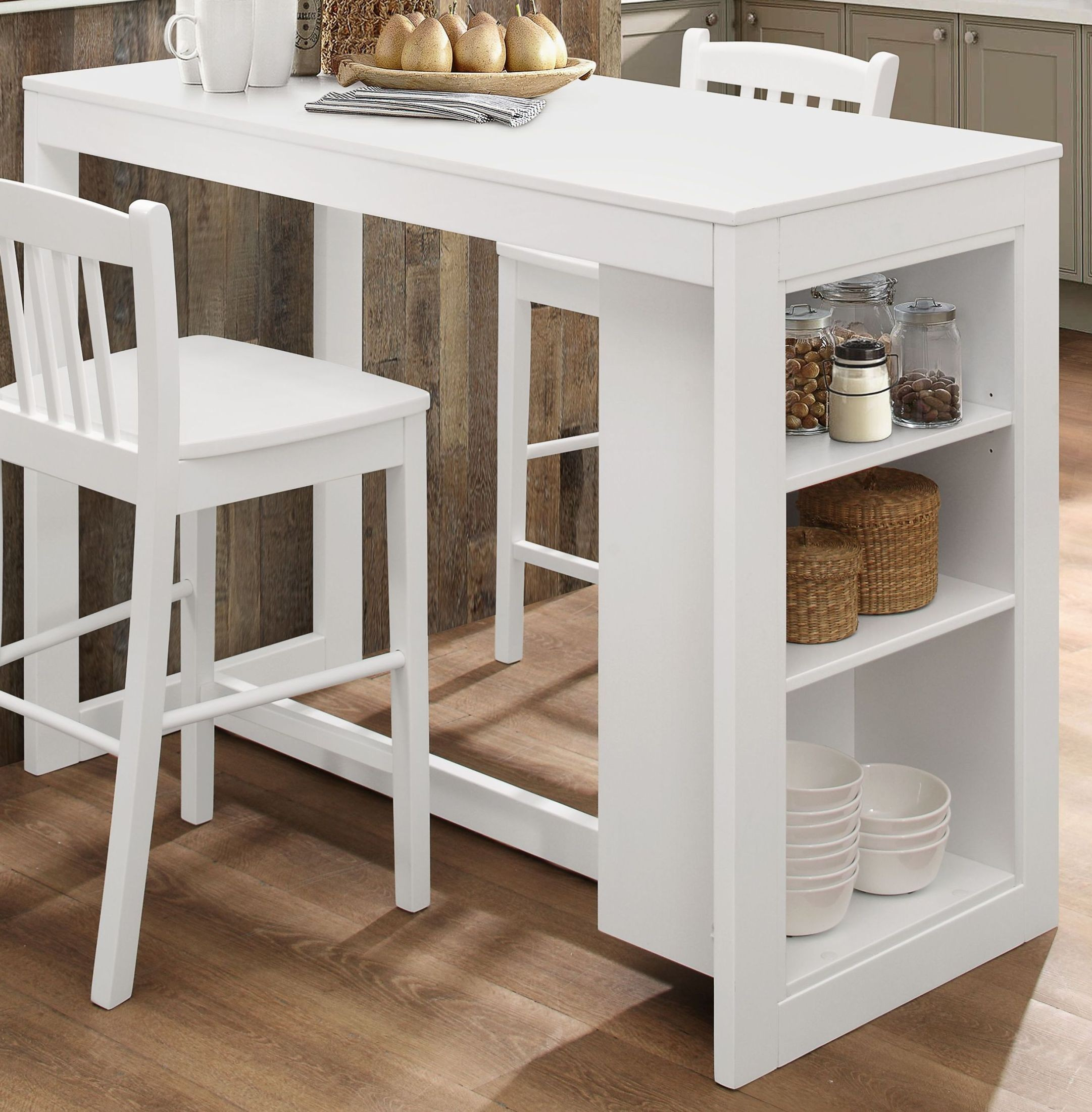 Tribeca Classic White Counter Height Dining Table from ...