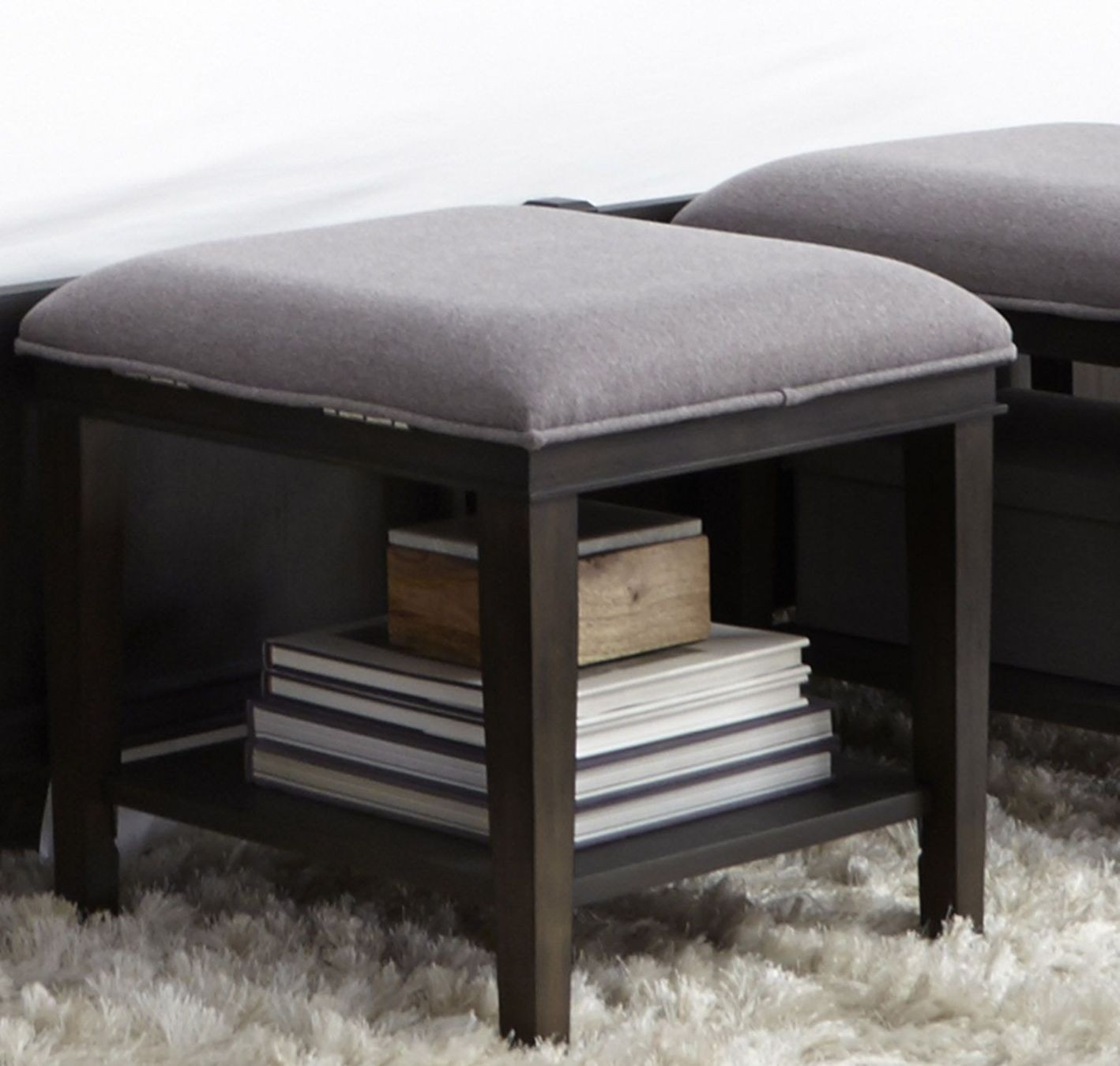 Bench By Bed: Tivoli Brown Bed Bench, 819-BR47, Liberty