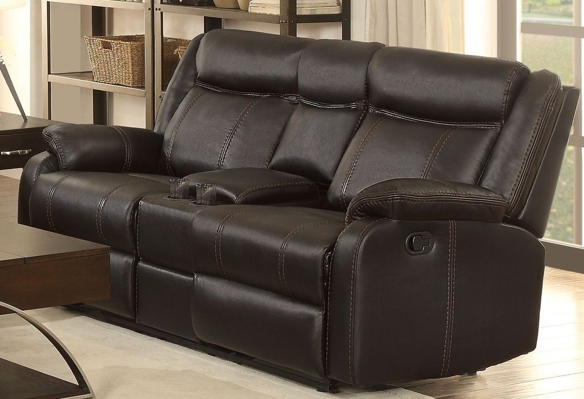Jude Black Double Glider Reclining Loveseat From Homelegance Coleman Furniture