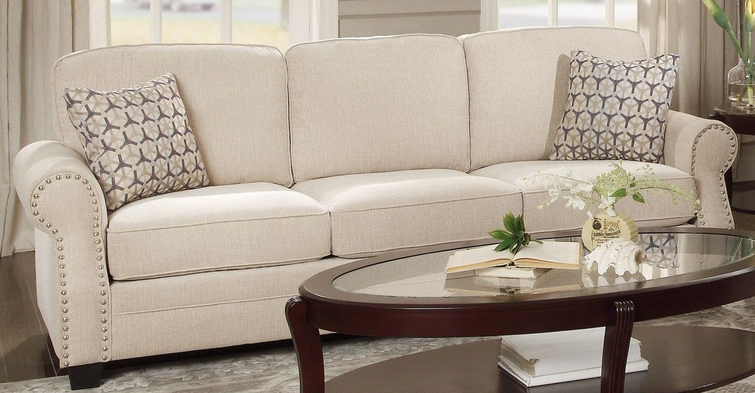 Rooms: Bechette Natural Tone Sofa From Homelegance