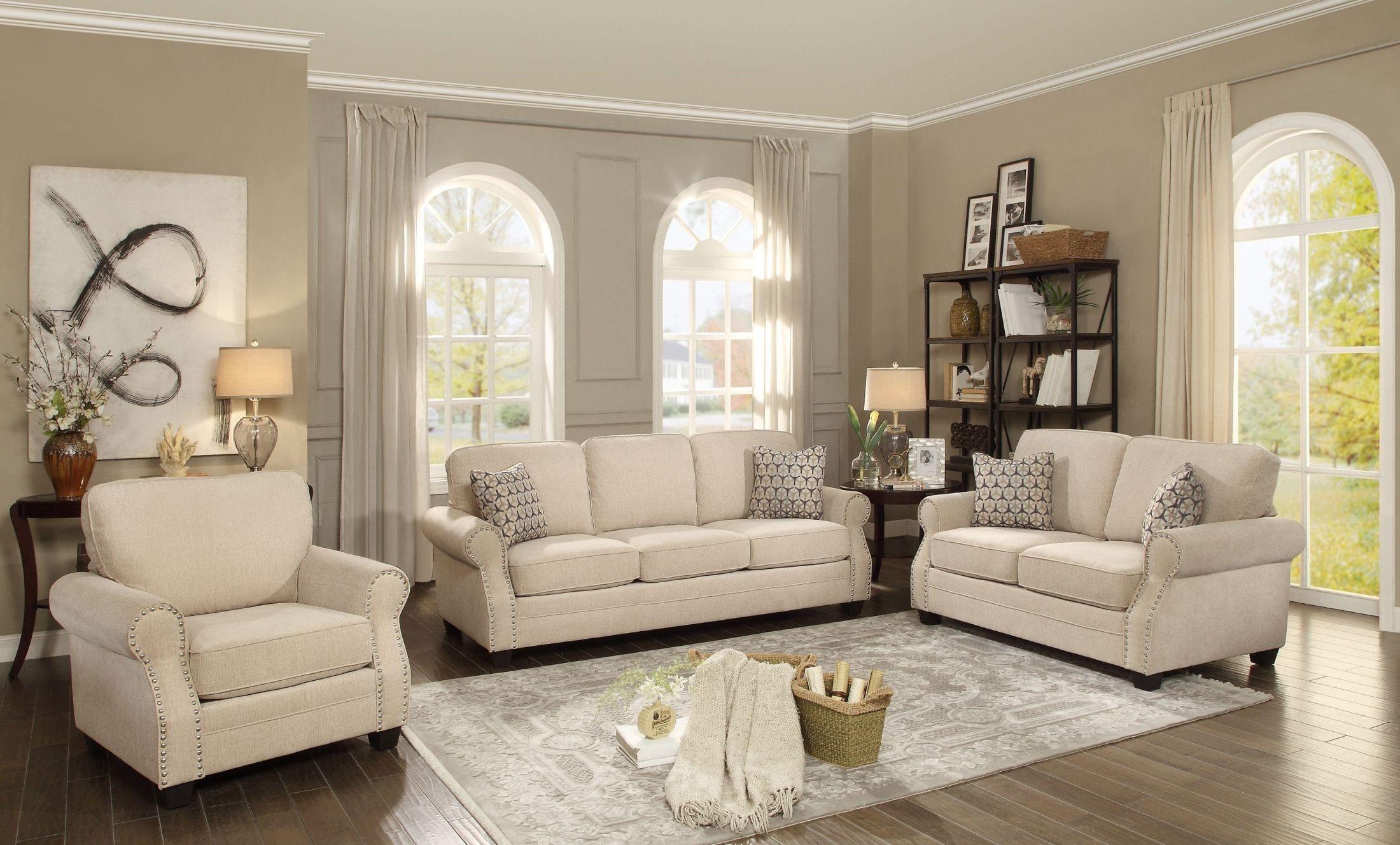Rooms: Bechette Natural Tone Living Room Set From Homelegance