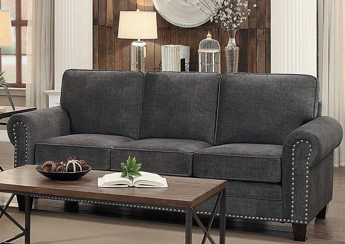 Cornelia Dark Grey Sofa From Homelegance Coleman Furniture