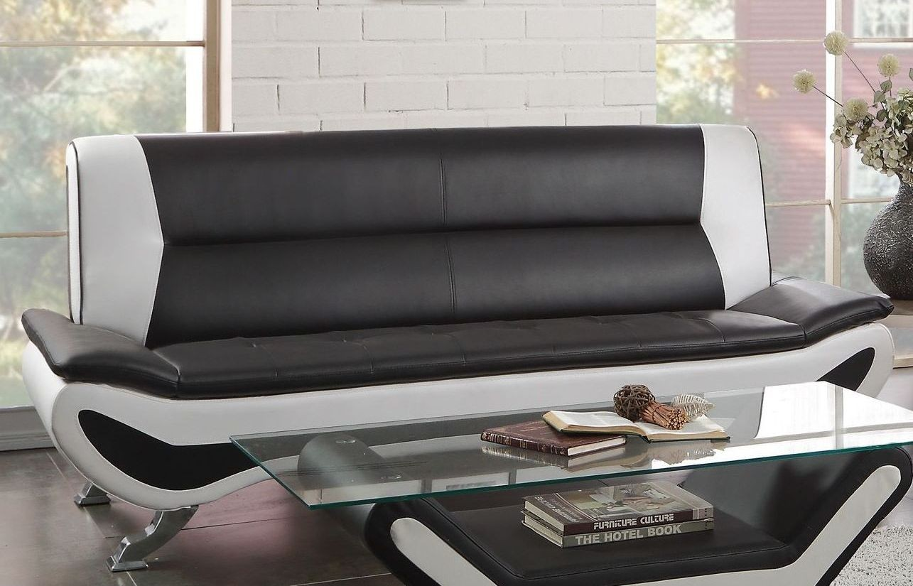 Veloce Black And White Sofa From Homelegance Coleman Furniture