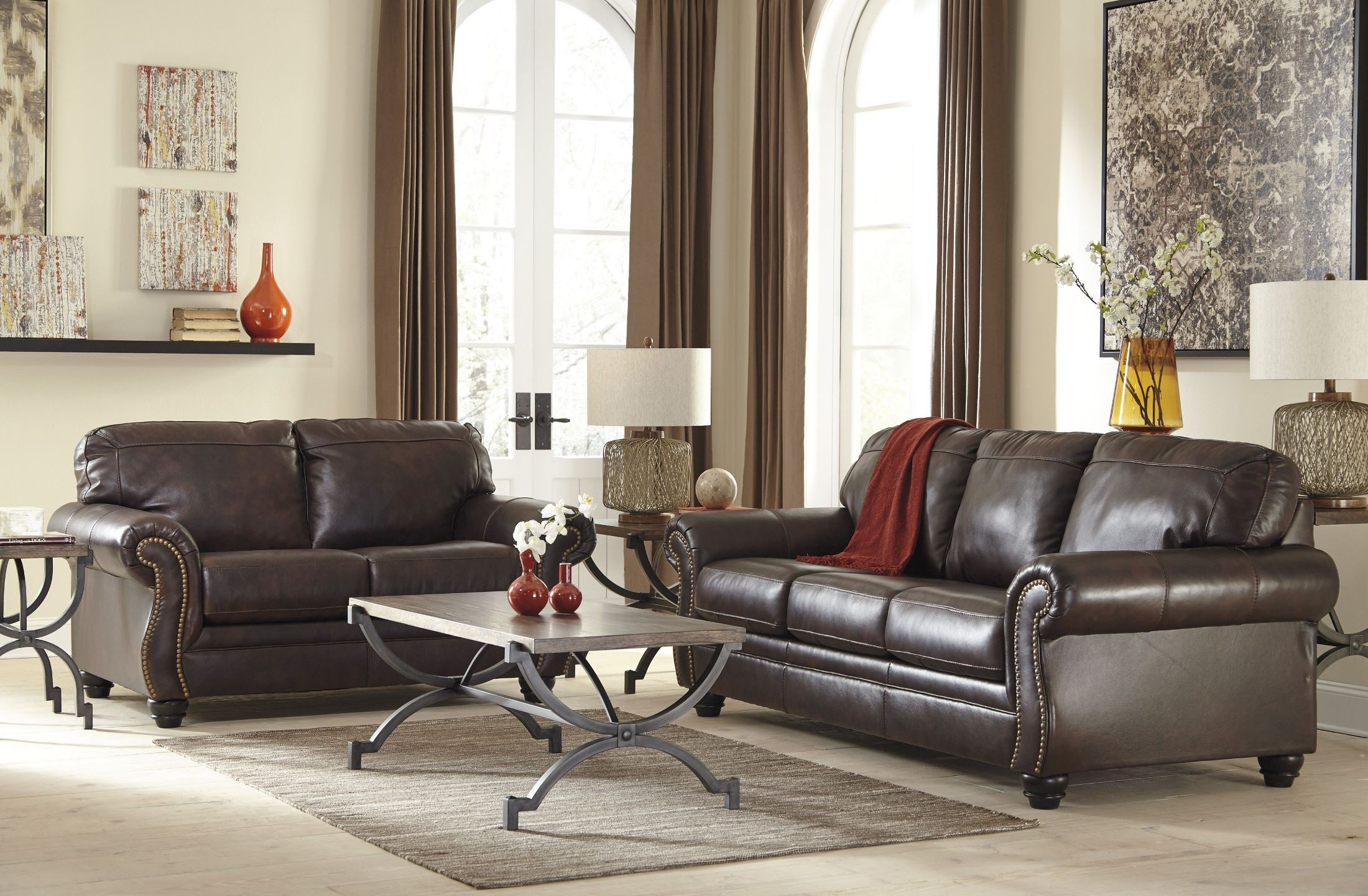 Bristan Walnut Queen Sofa Sleeper from Ashley (8220239 ...
