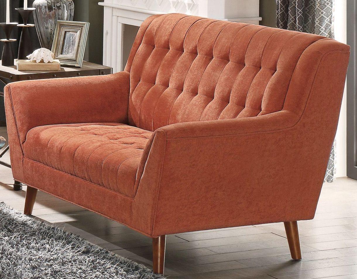 Erath Orange Loveseat From Homelegance Coleman Furniture