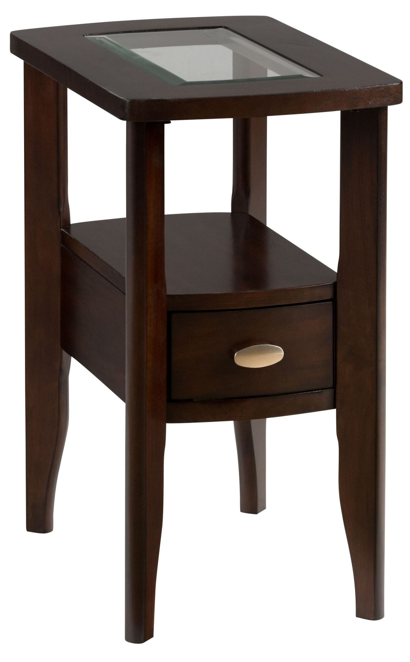 Montego merlot chairside table from jofran coleman furniture for Chairside table