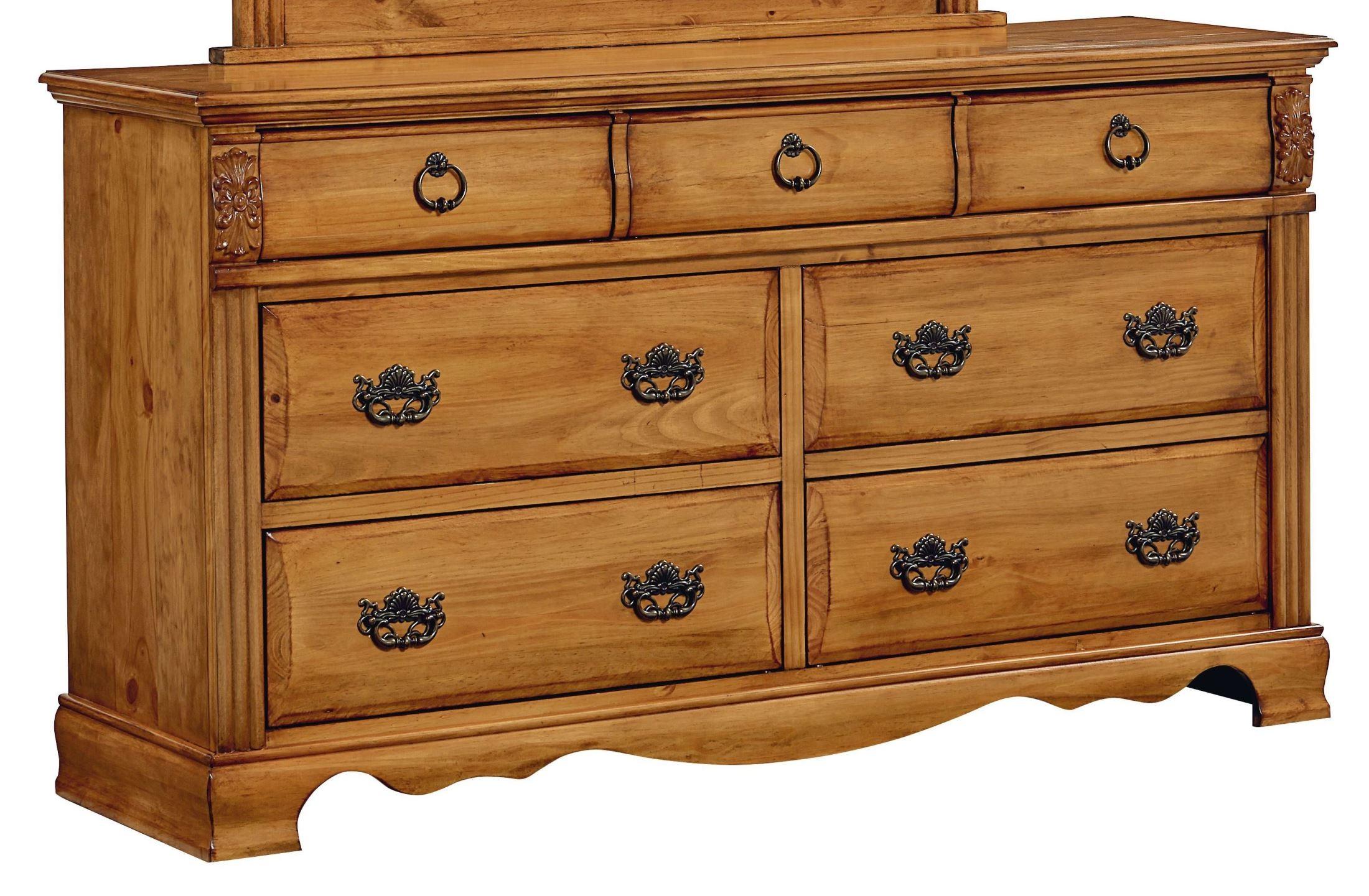 Georgetown Golden Honey Pine Dresser From Standard 83009 Coleman Furniture