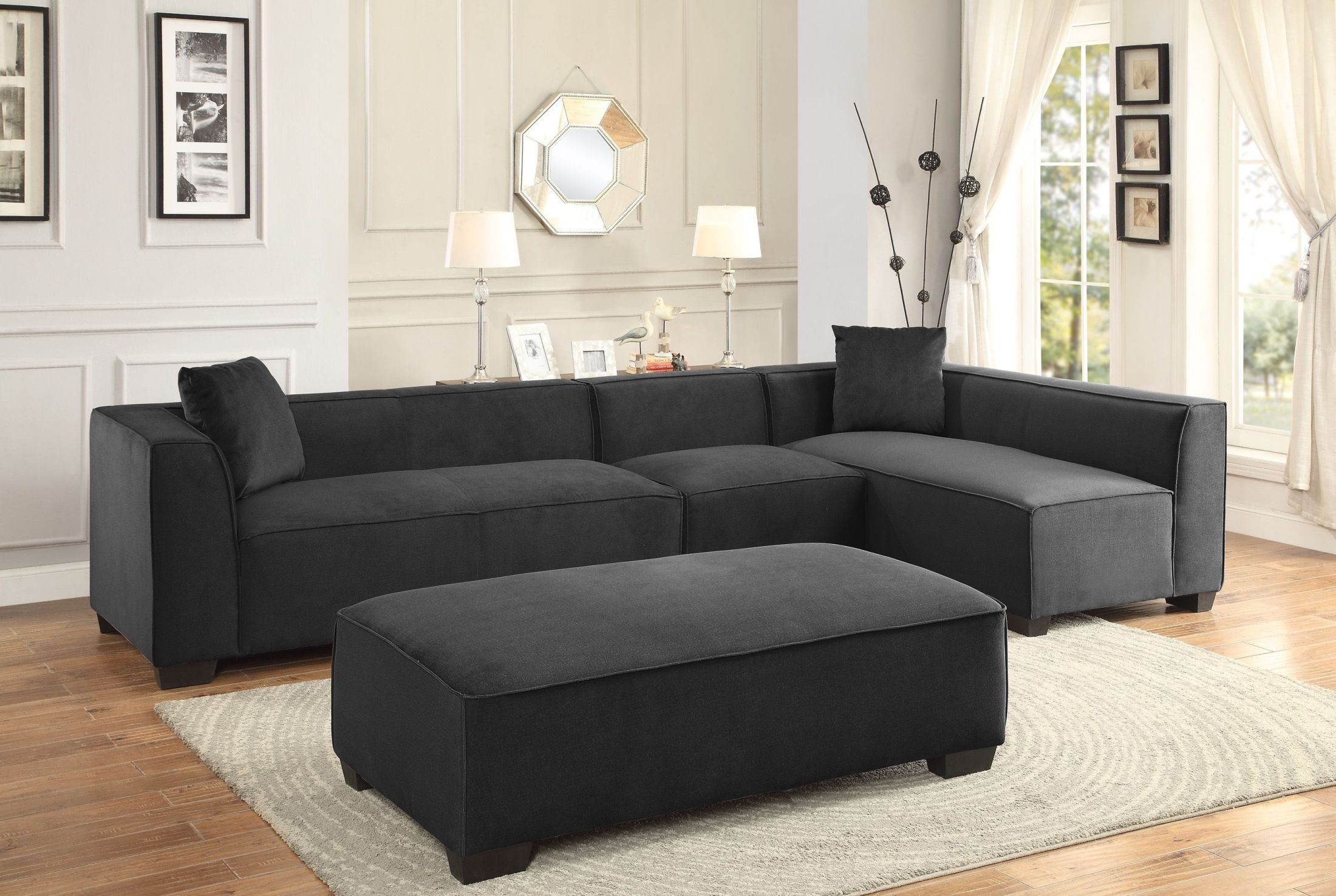 Metz Gray Sectional from Homelegance
