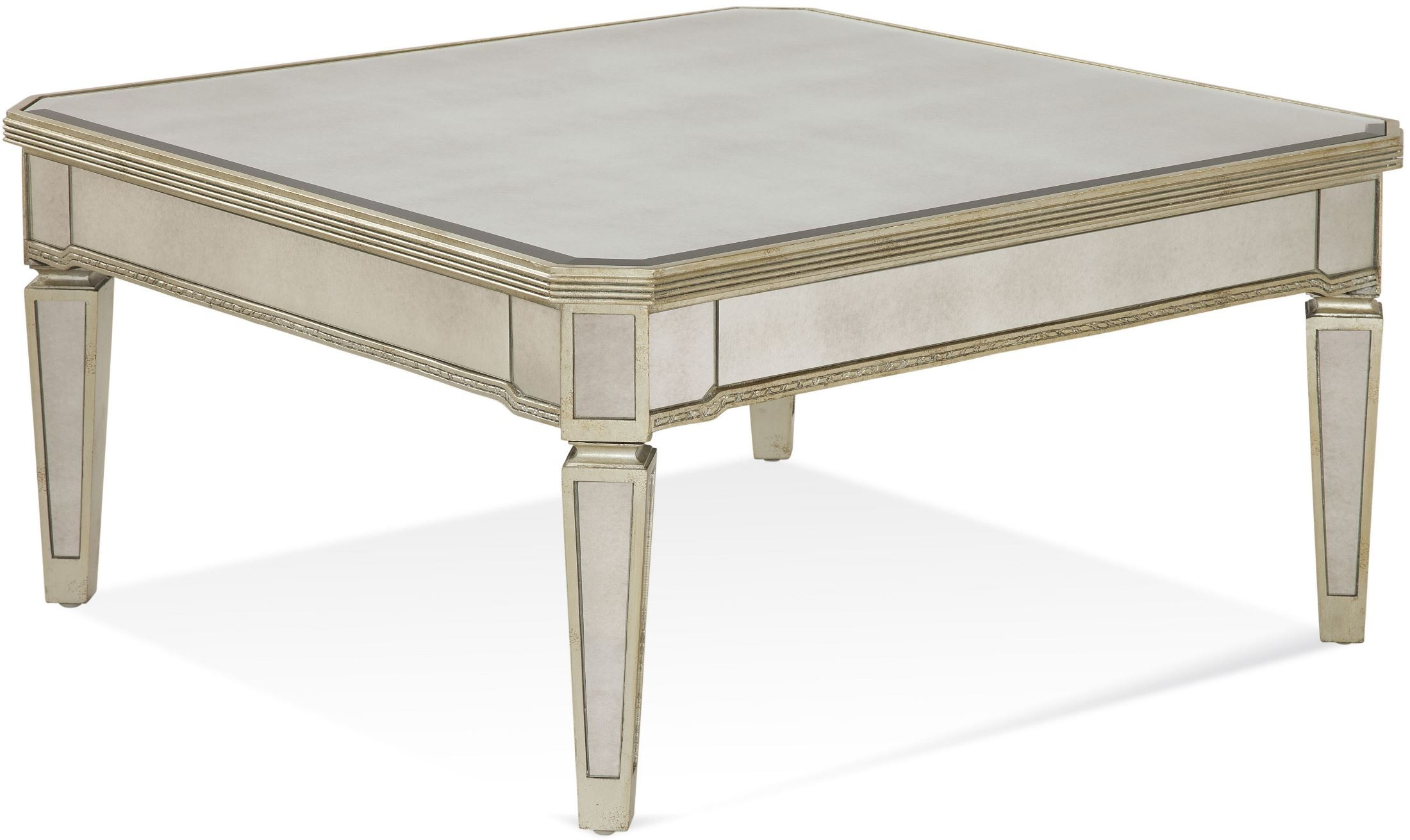 Borghese Mirrored Square Cocktail Table From Bassett