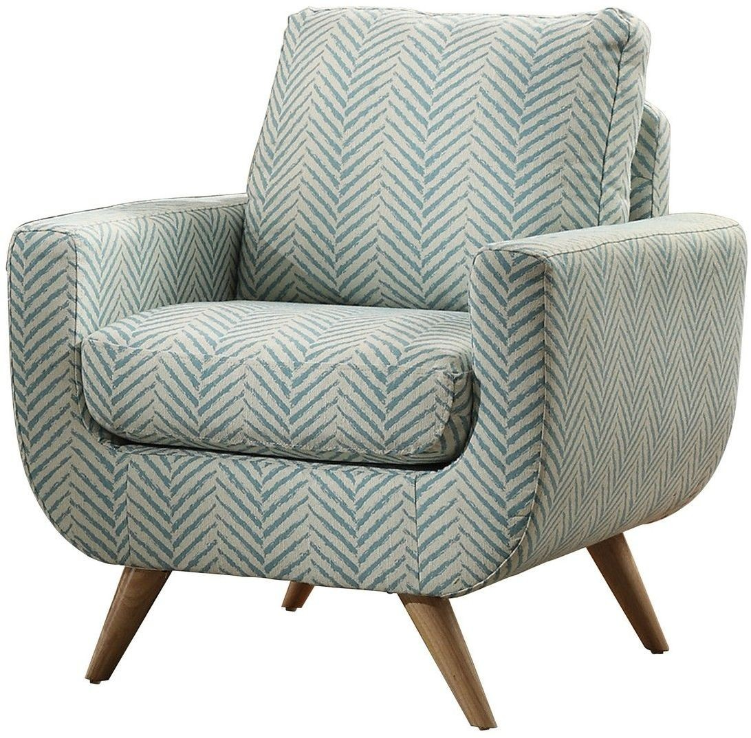 Deryn Blue Accent Chair From Homelegance