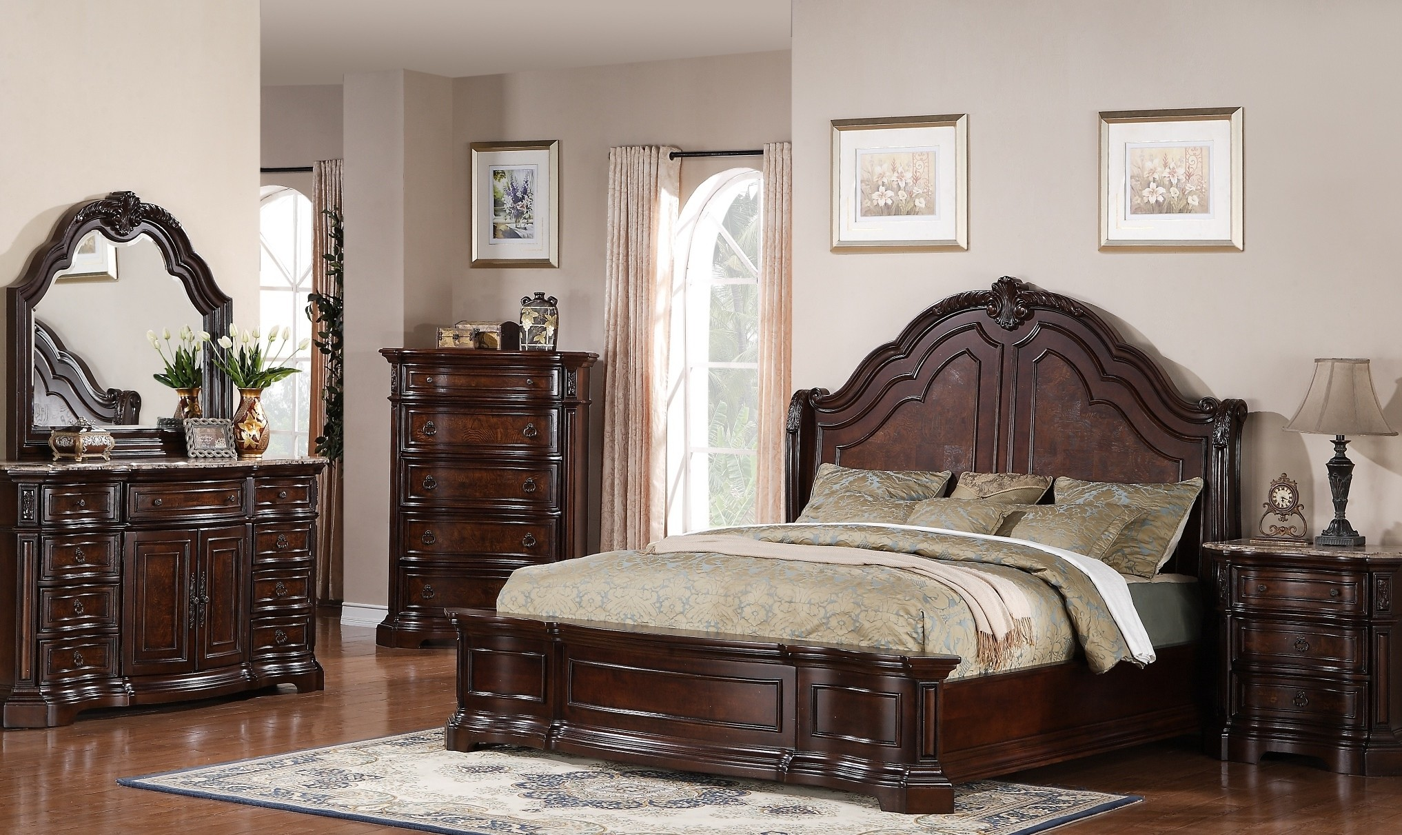 Edington Panel Bedroom Set From Samuel Lawrence (8328 252 259 508) |  Coleman Furniture