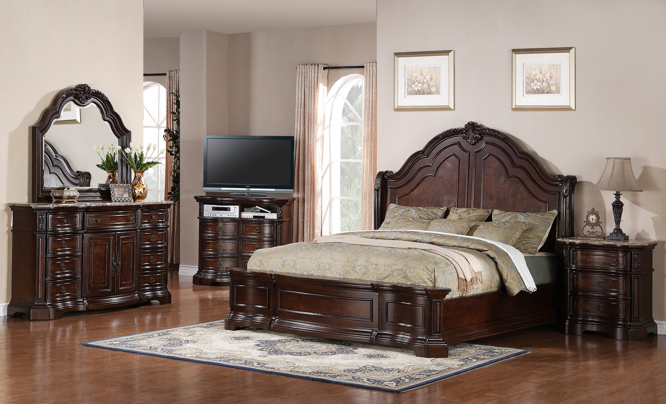 Edington Panel Bedroom Set From Samuel Lawrence 8328 252