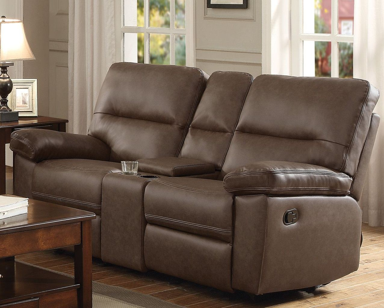Nell Brown Double Glider Reclining Loveseat From Homelegance Coleman Furniture