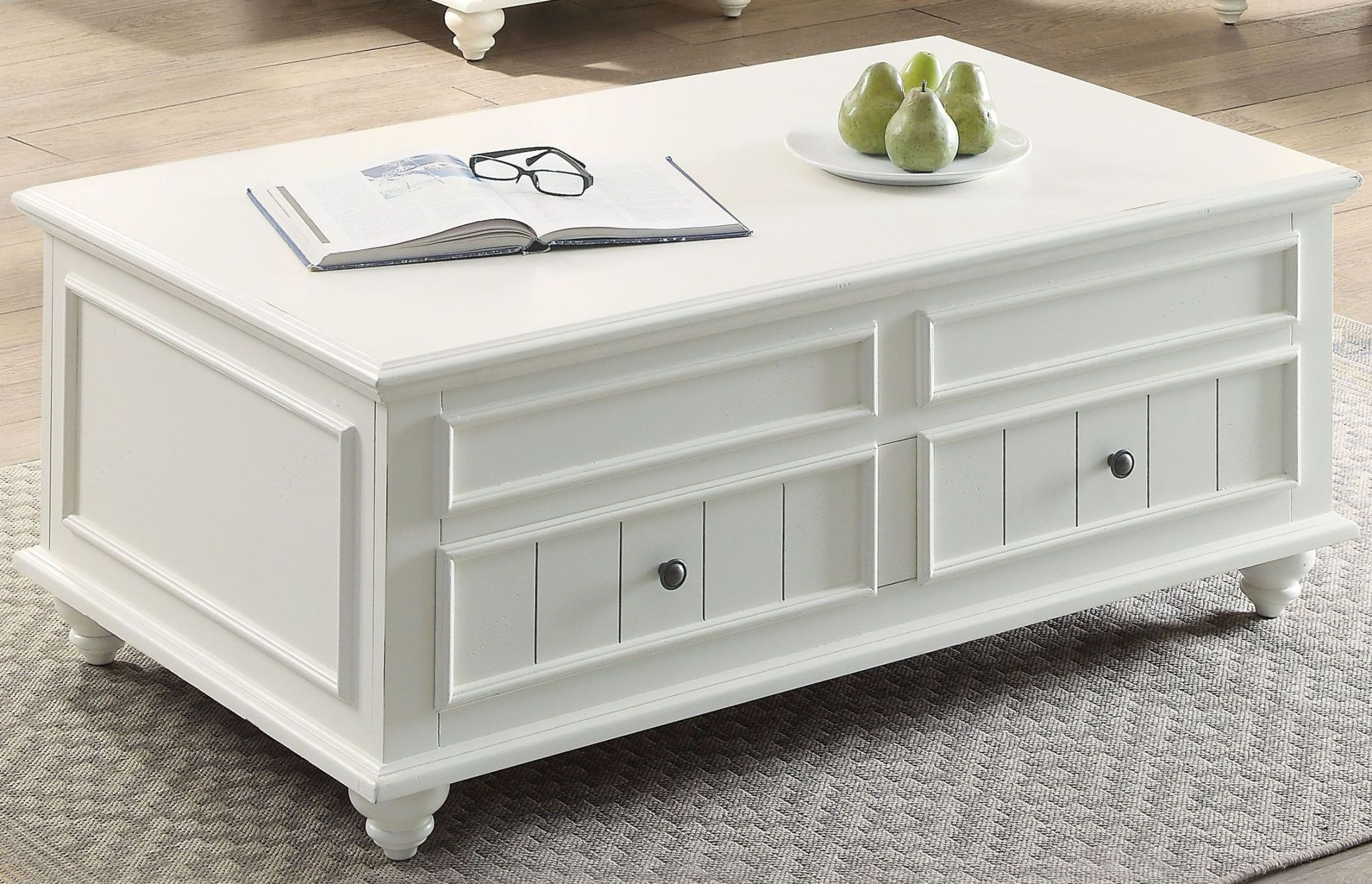 Natesa Lift Top White Washed Coffee Table from Acme