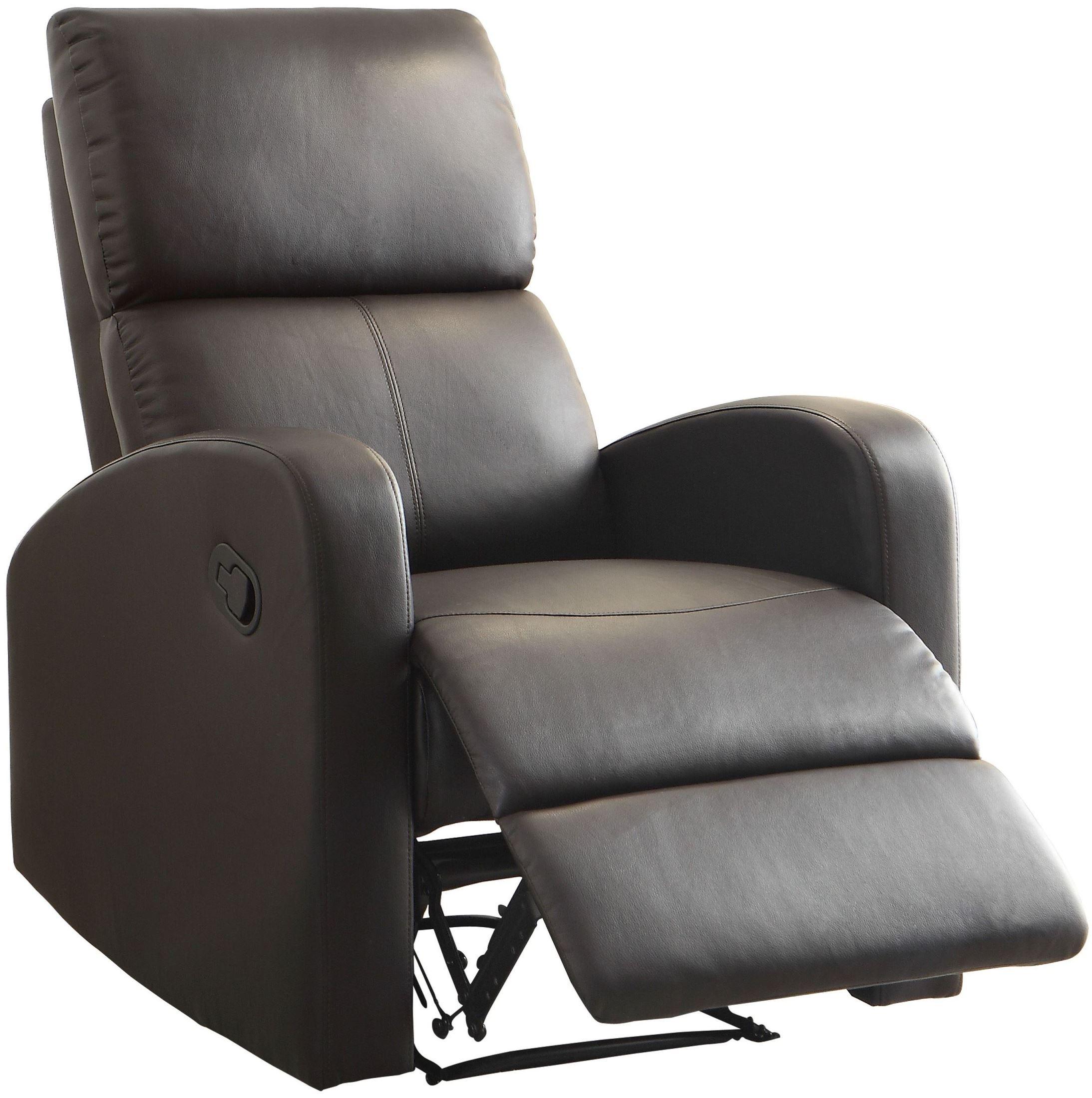 Mendon Dark Brown Reclining Chair from Homelegance 8404DB 1