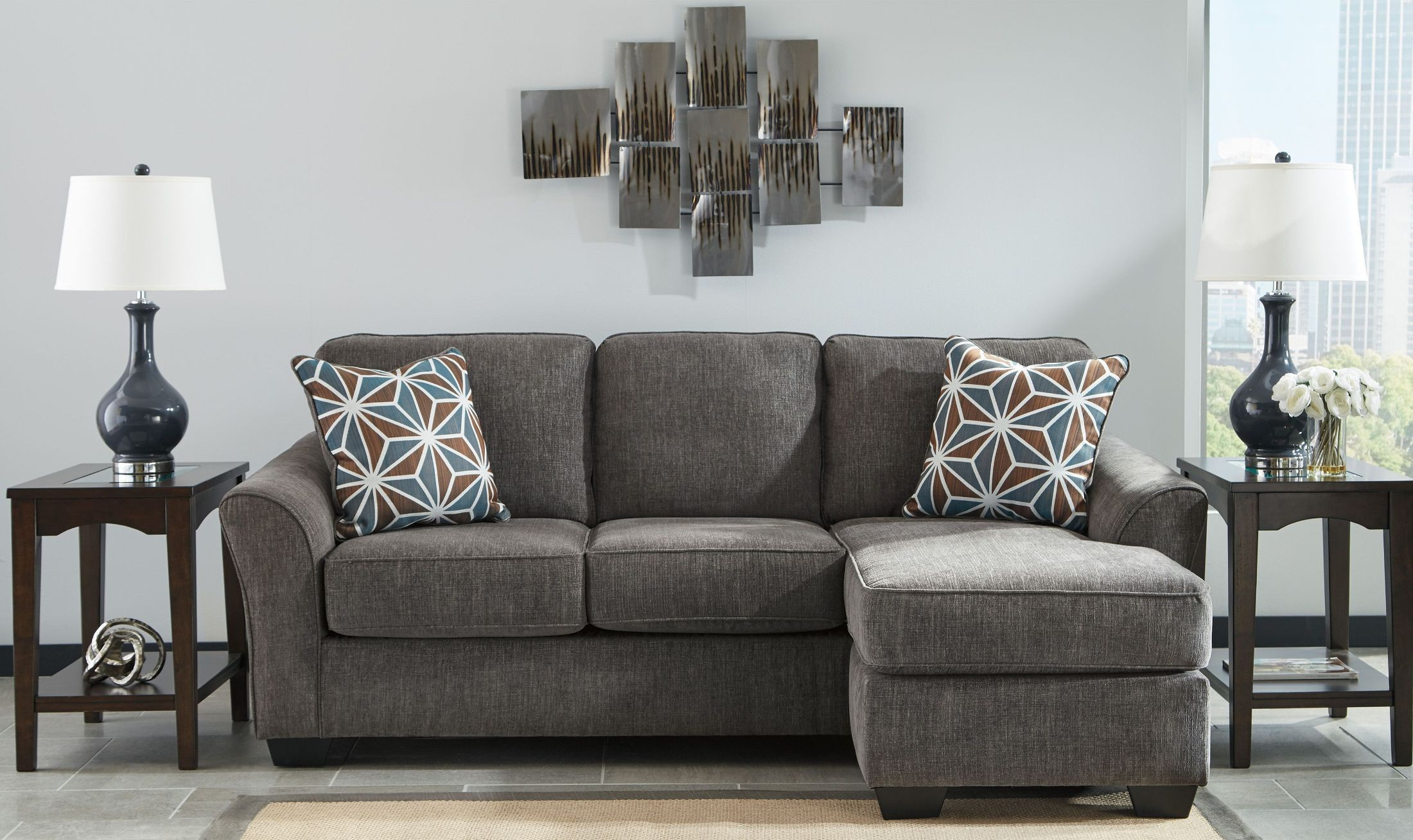 Brise Slate Sofa Chaise From Ashley Coleman Furniture