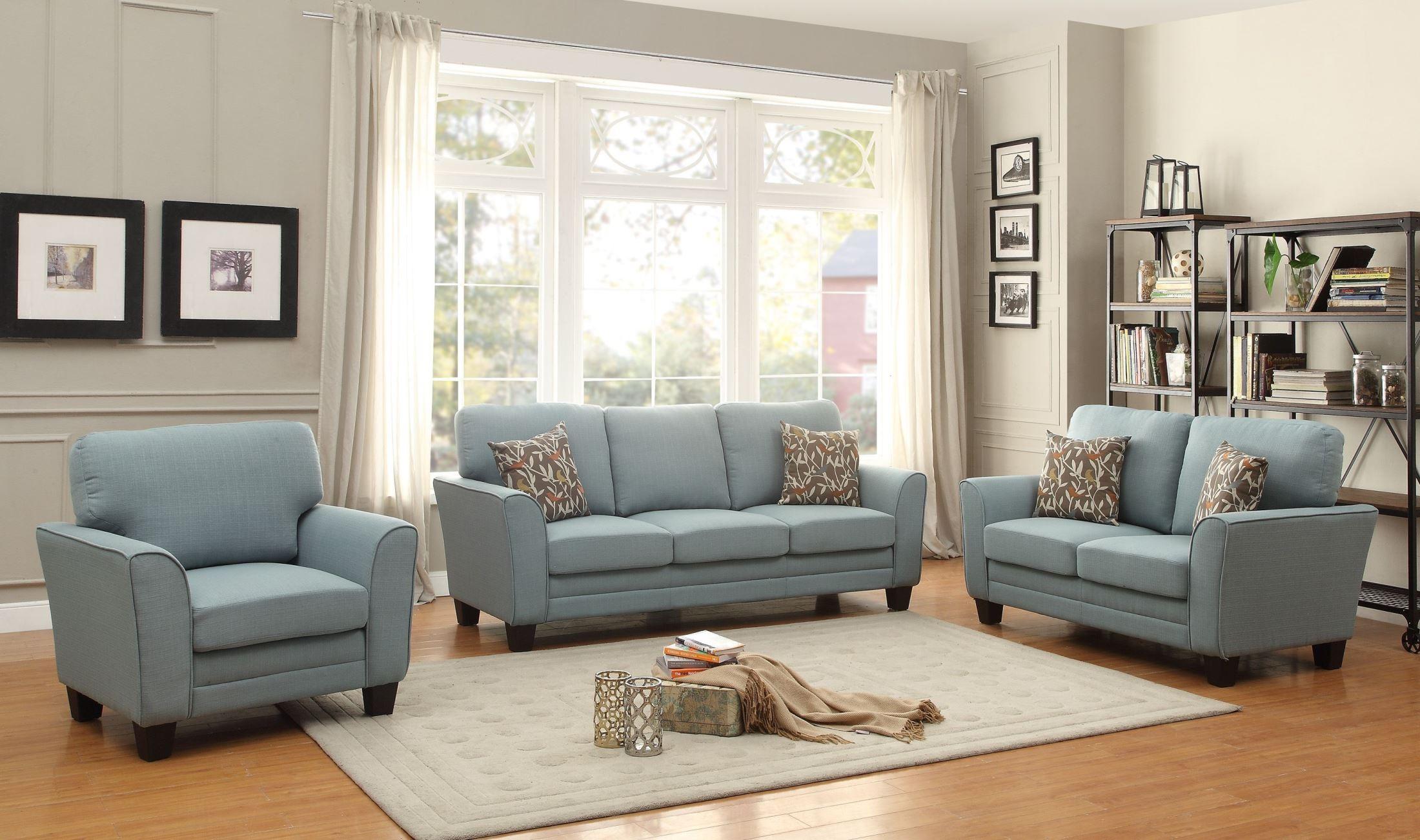 Adair Teal Living Room Set from Homelegance (8413TL-3)   Coleman Furniture