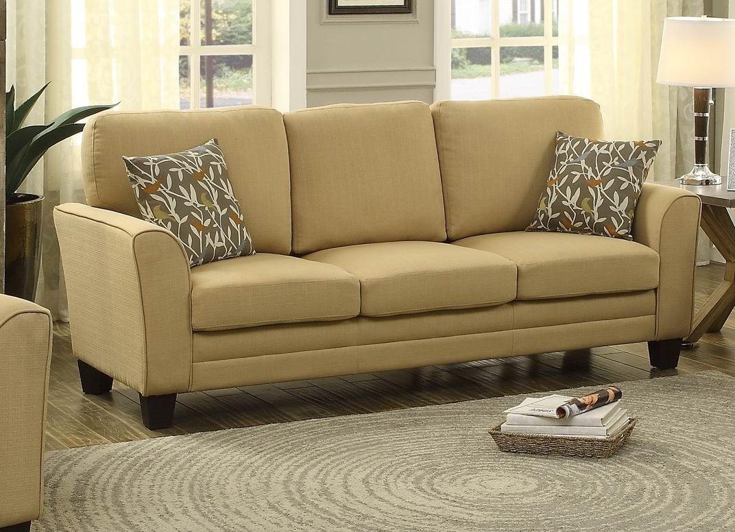 Adair Yellow Sofa From Homelegance (8413YW-3)