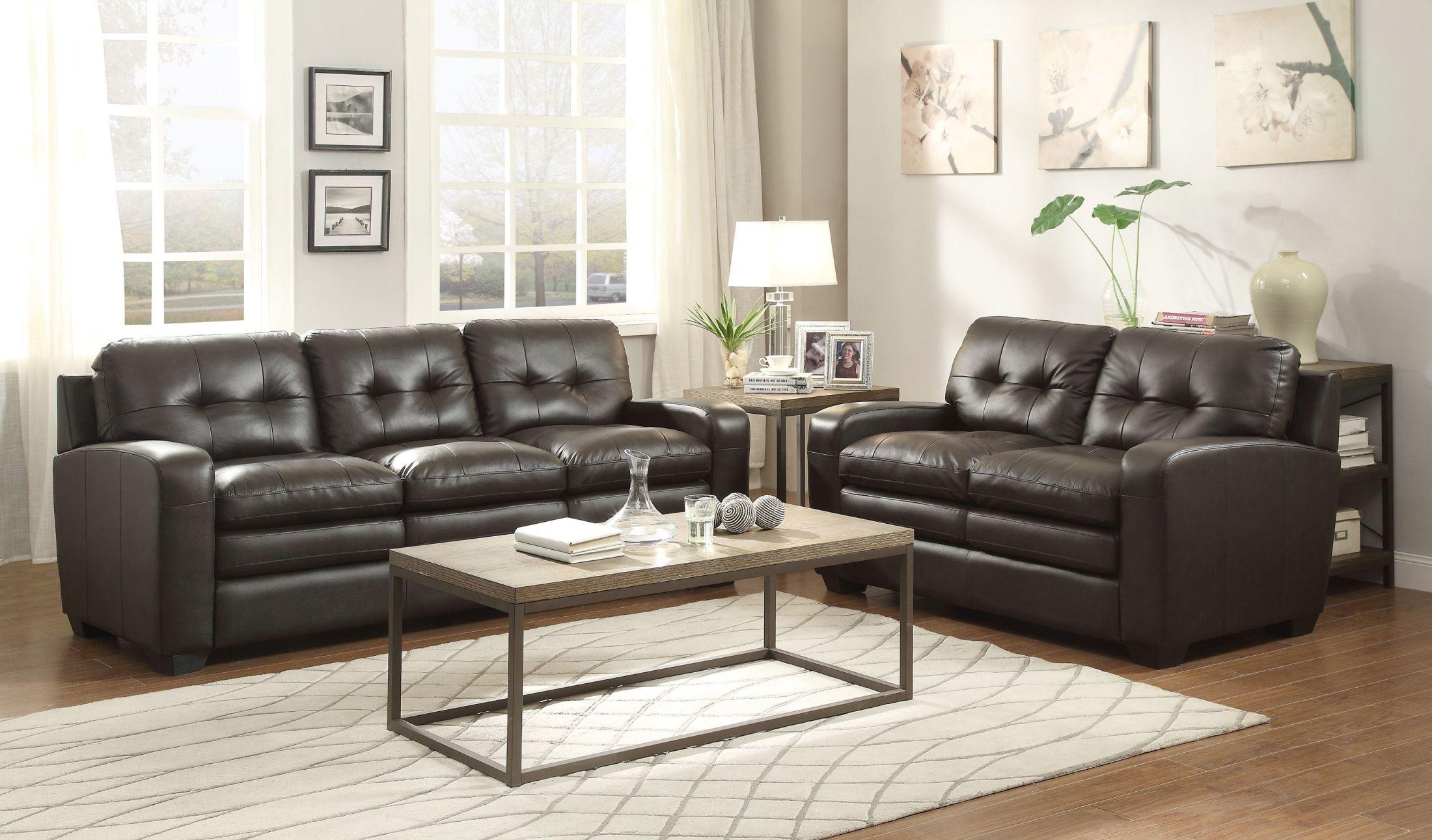 urich chocolate living room set from homelegance 8422 3 coleman furniture. Black Bedroom Furniture Sets. Home Design Ideas