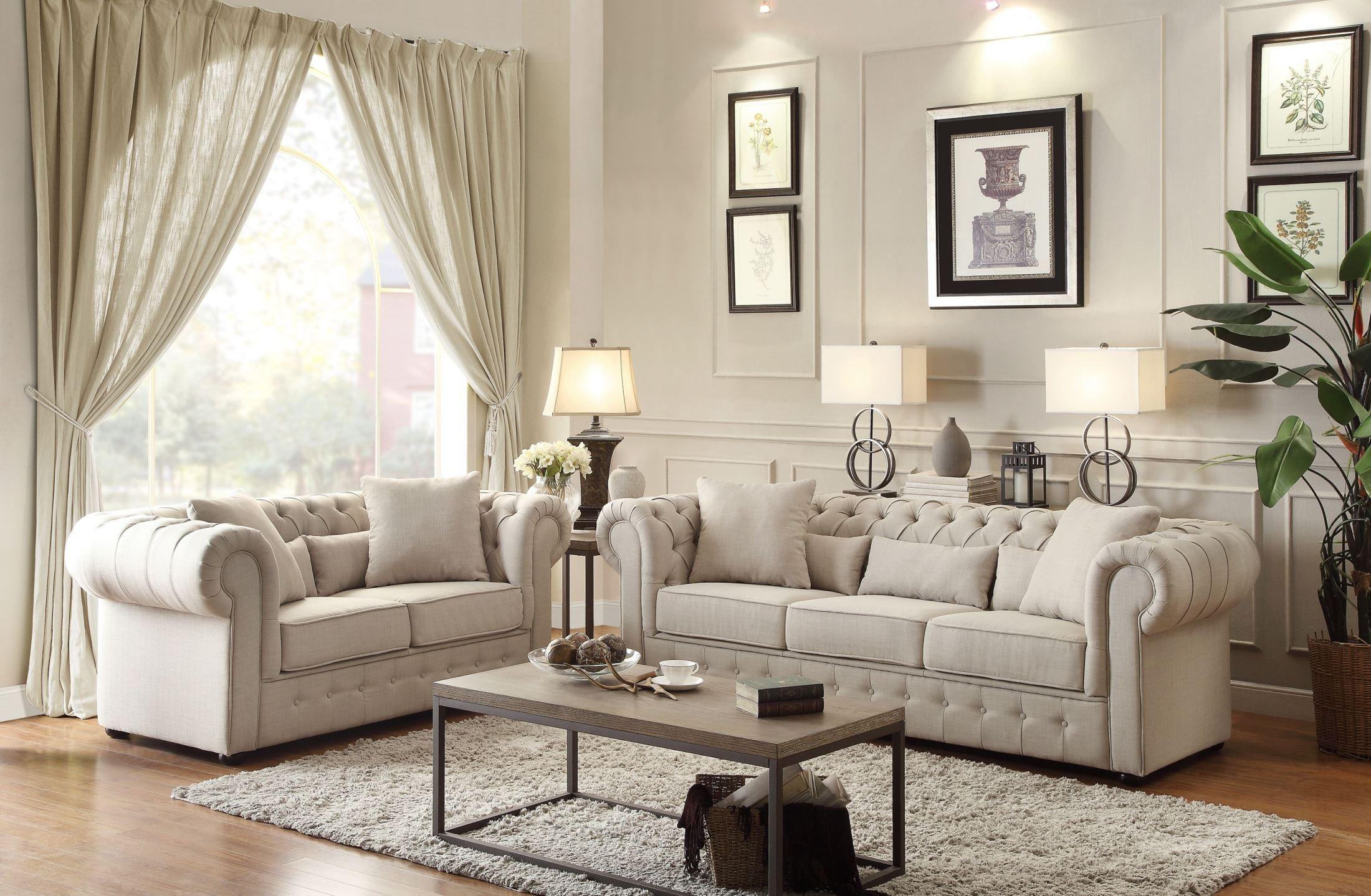 Savonburg Natural Tone Living Room Set From Homelegance