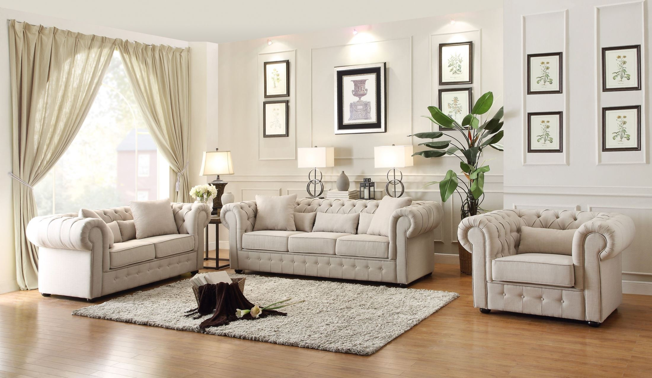 Rooms: Savonburg Natural Tone Living Room Set From Homelegance