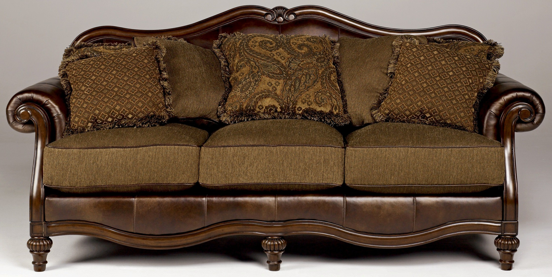 Claremore Antique Sofa Chair Living Room Set From Ashley Coleman Furniture