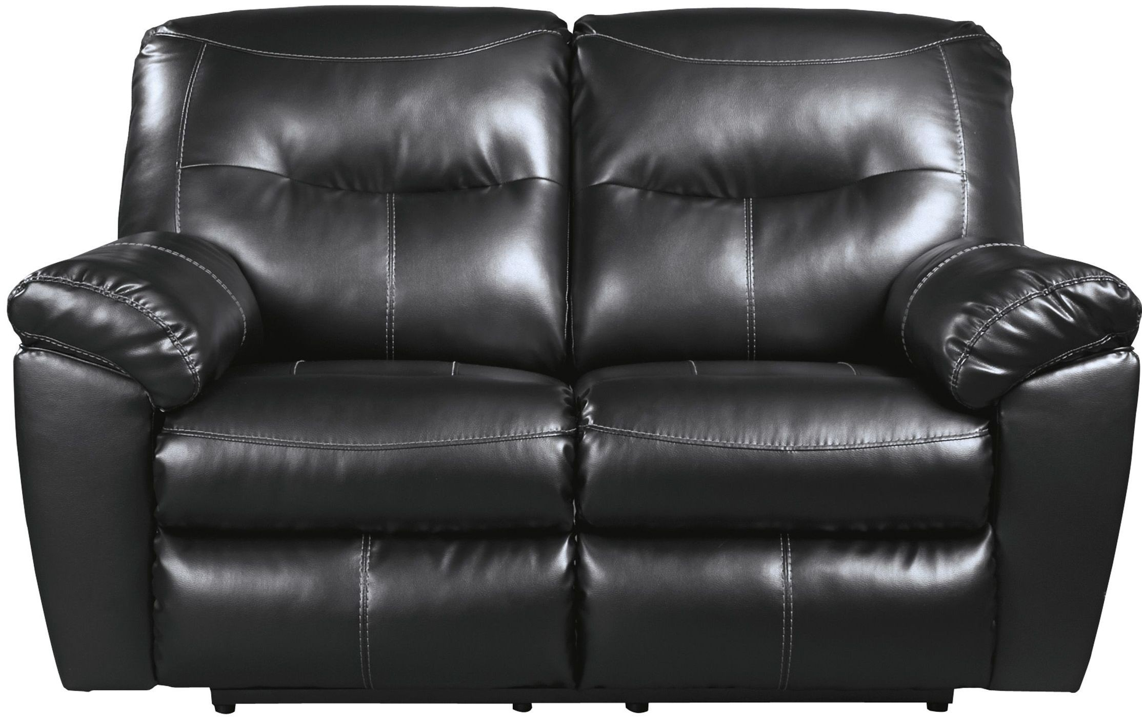 Kilzer Durablend Black Reclining Loveseat From Ashley 8470186 Coleman Furniture