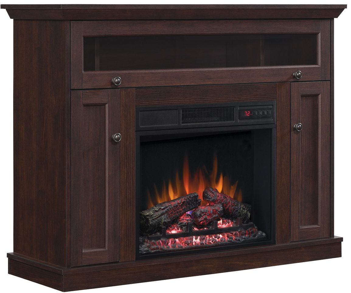 Classicflame Midnight Cherry Windsor Tv Stand With 26 Electric Fireplace From Twin Star