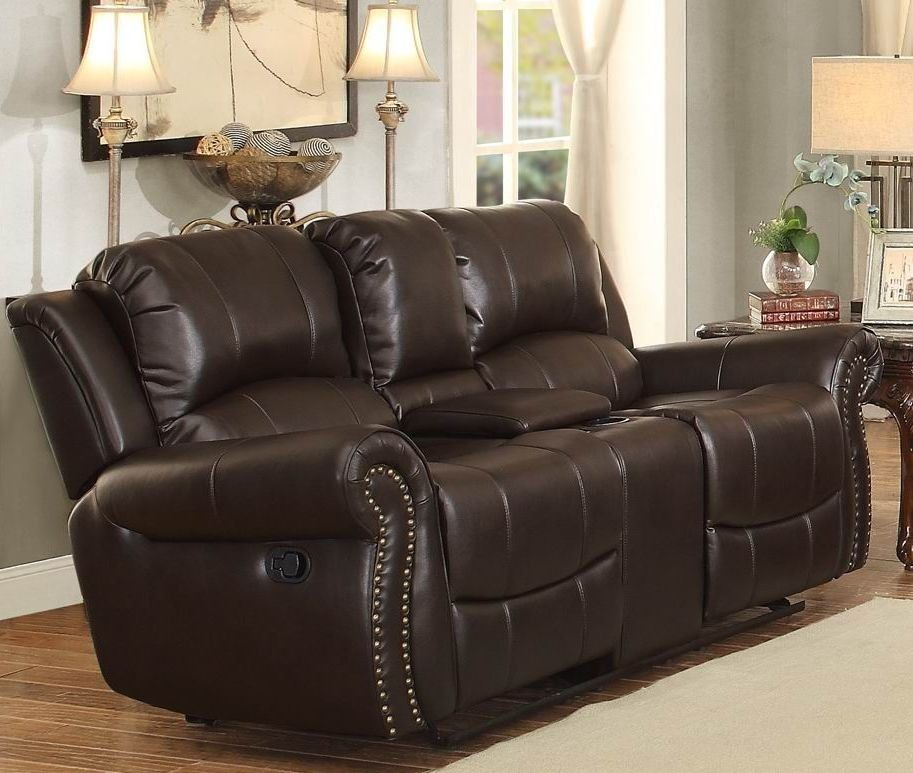Annapolis Brown Double Reclining Living Room Set From Homelegance Coleman Furniture