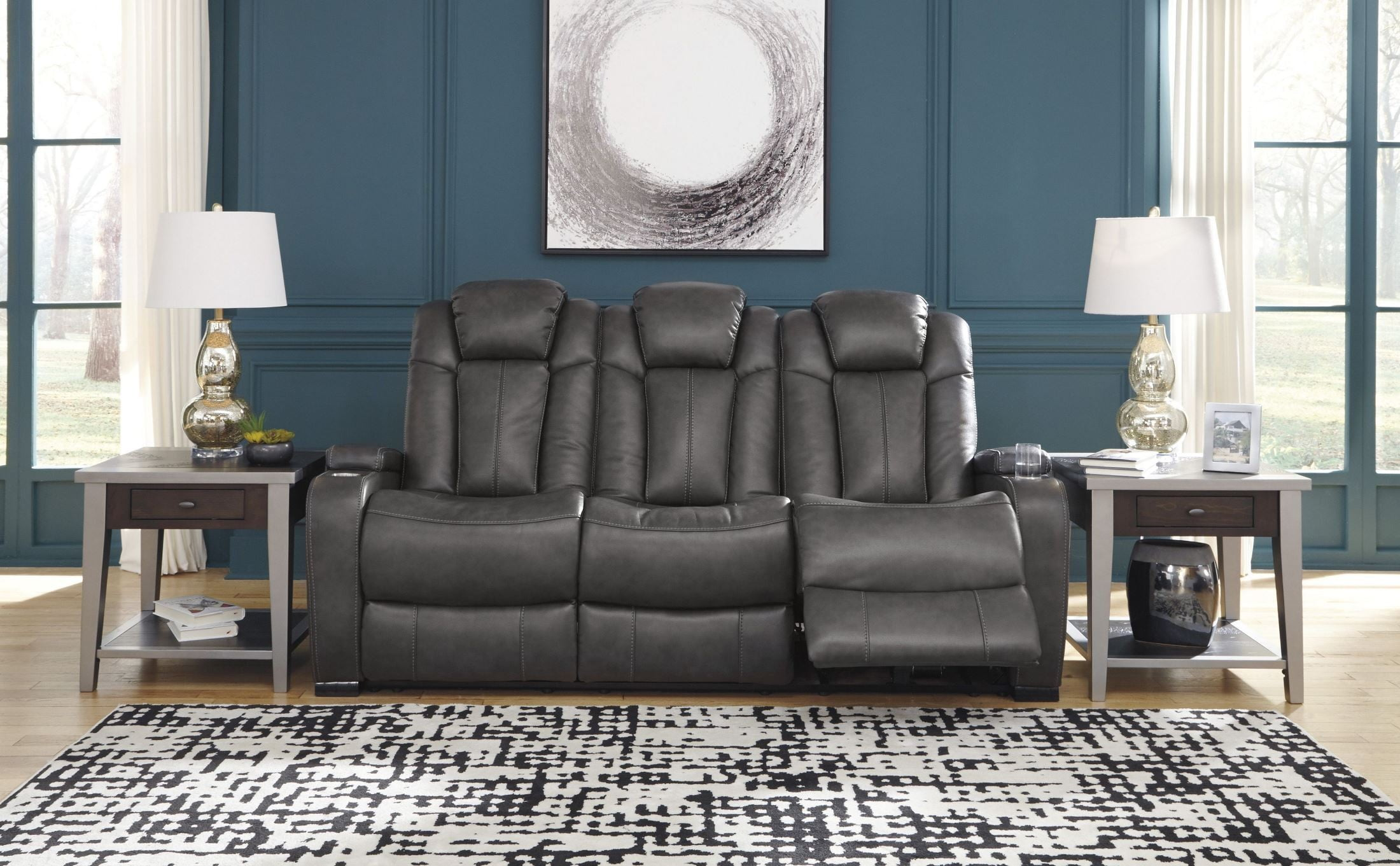 Brilliant Turbulance Quarry Power Reclining Sofa With Adjustable Headrest Pdpeps Interior Chair Design Pdpepsorg