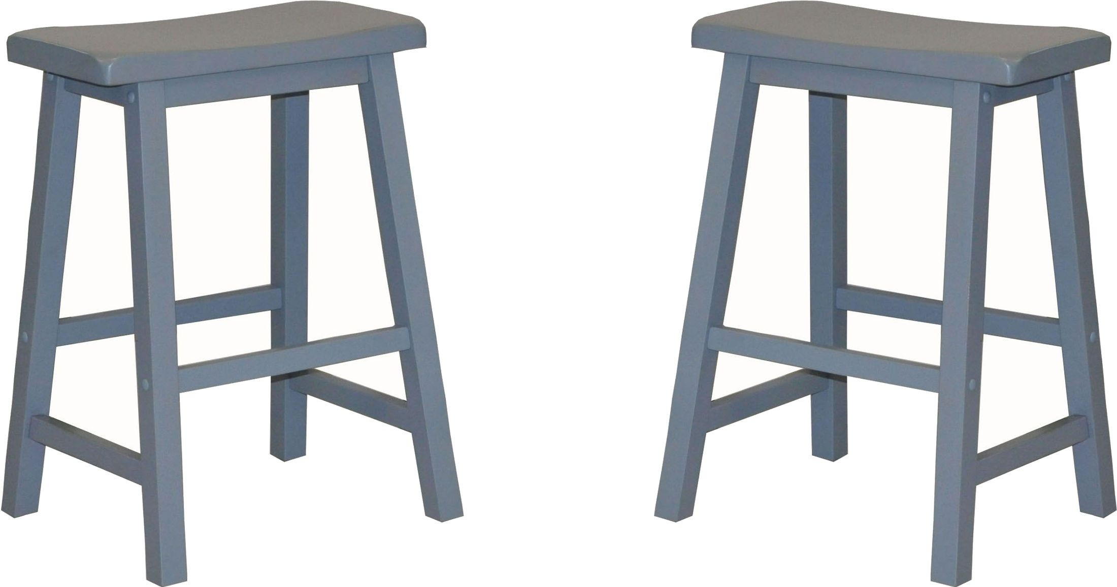 24 Quot Blue Saddle Stool Set Of 2 From Eci Furniture