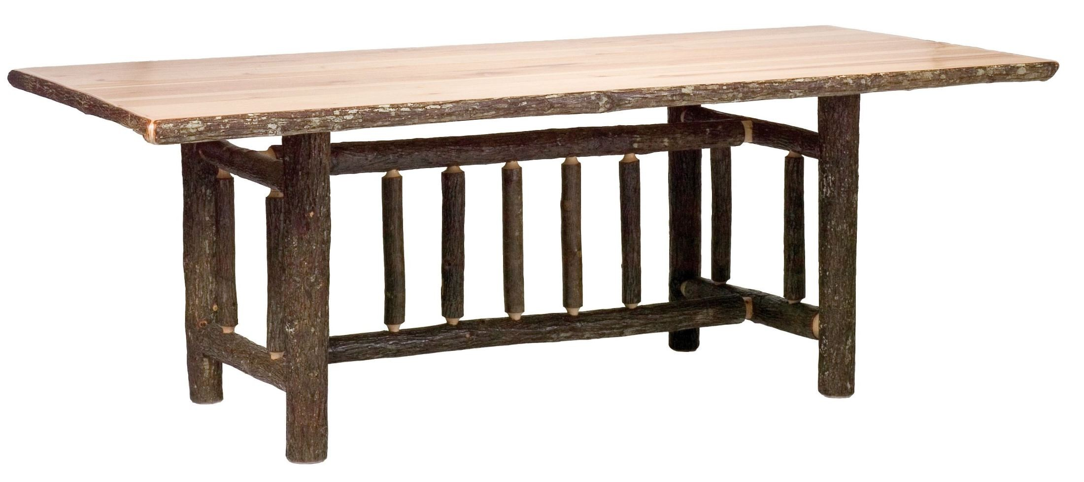 Hickory rectangular 72 standard dining table from for Standard dining table