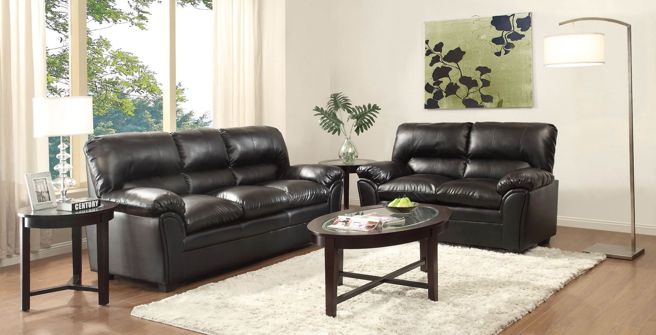 Talon Black Living Room Set From Homelegance 8511bk 3