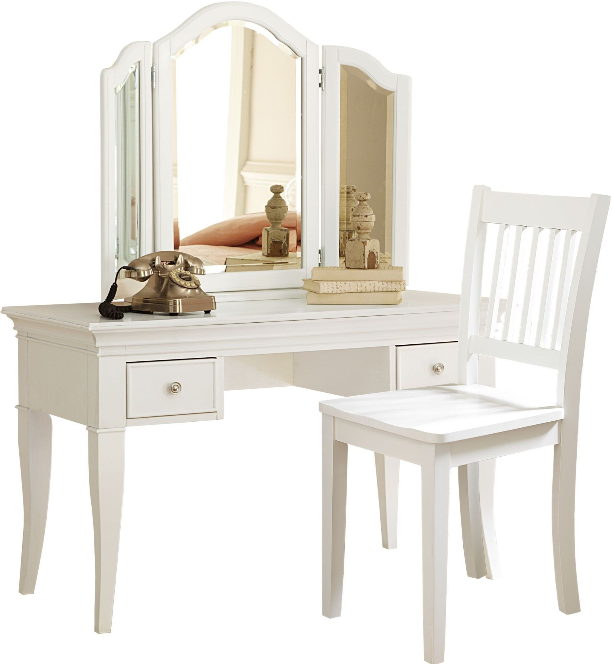 walnut street white desk and storage vanity with mirror chair from ne kids coleman furniture. Black Bedroom Furniture Sets. Home Design Ideas