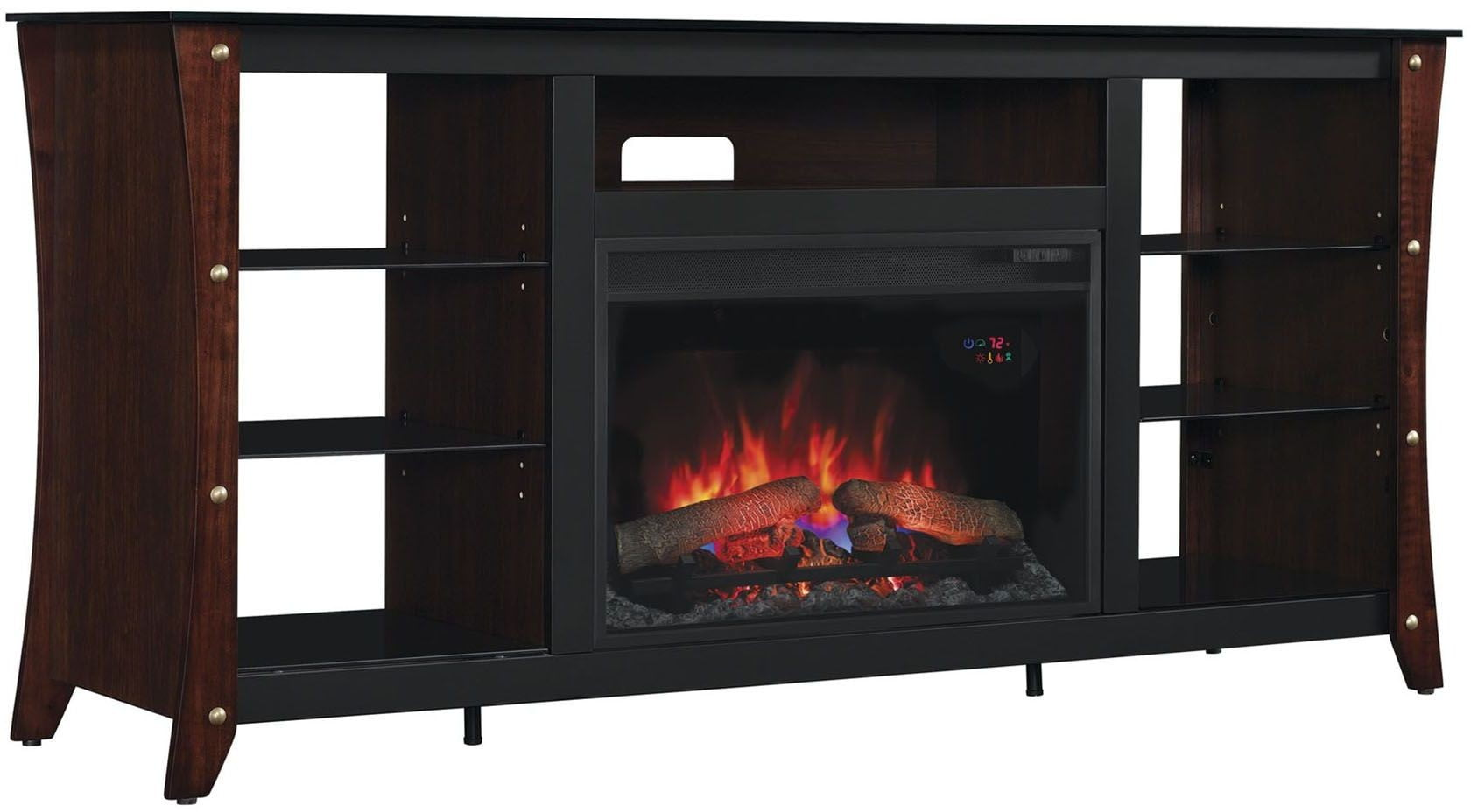 Classicflame Midnight Cherry Marlin Tv Stand With 26 Electric Fireplace From Twin Star