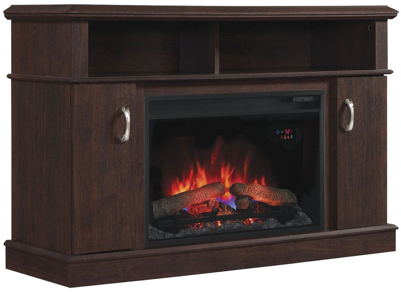 Classicflame Midnight Cherry Dwell Tv Stand With 26 Electric Fireplace From Twin Star