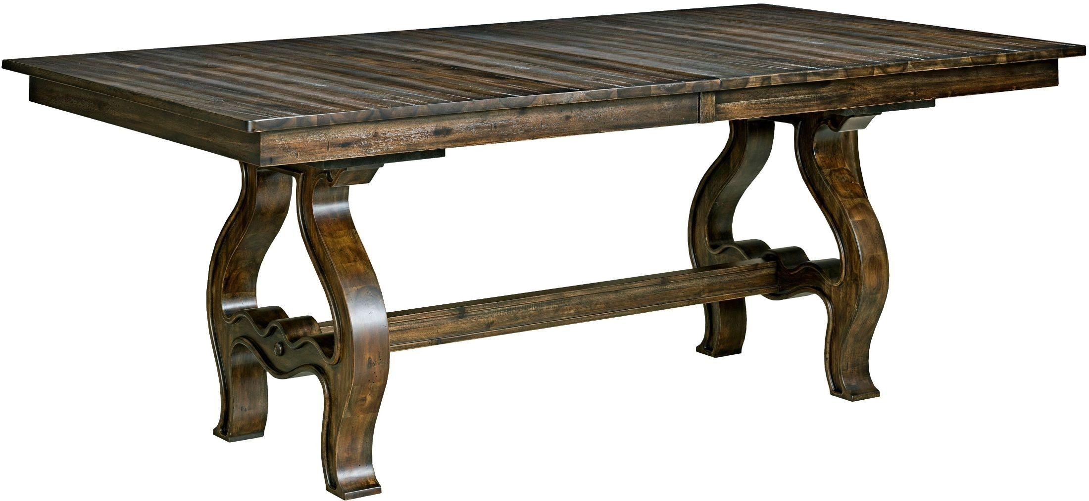Wildfire Ember Extendable Trestle Dining Table From Kincaid 86 056p