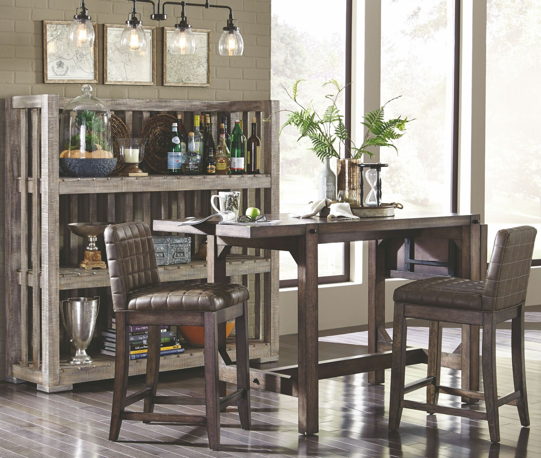 Counter Height Dining Room: Bedford Avenue Drop Leaf Extendable Counter Height Dining