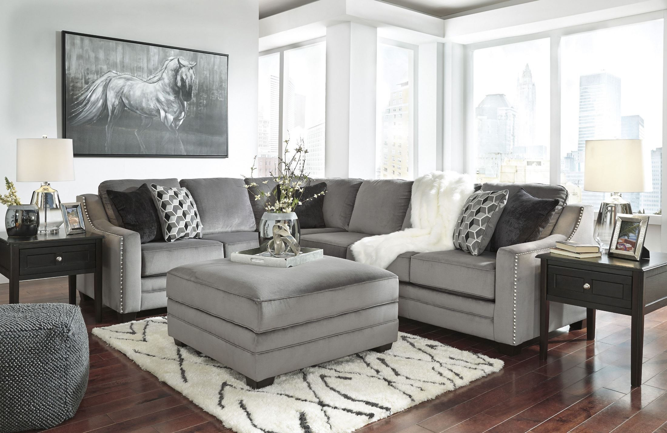 bicknell charcoal laf sectional from ashley coleman