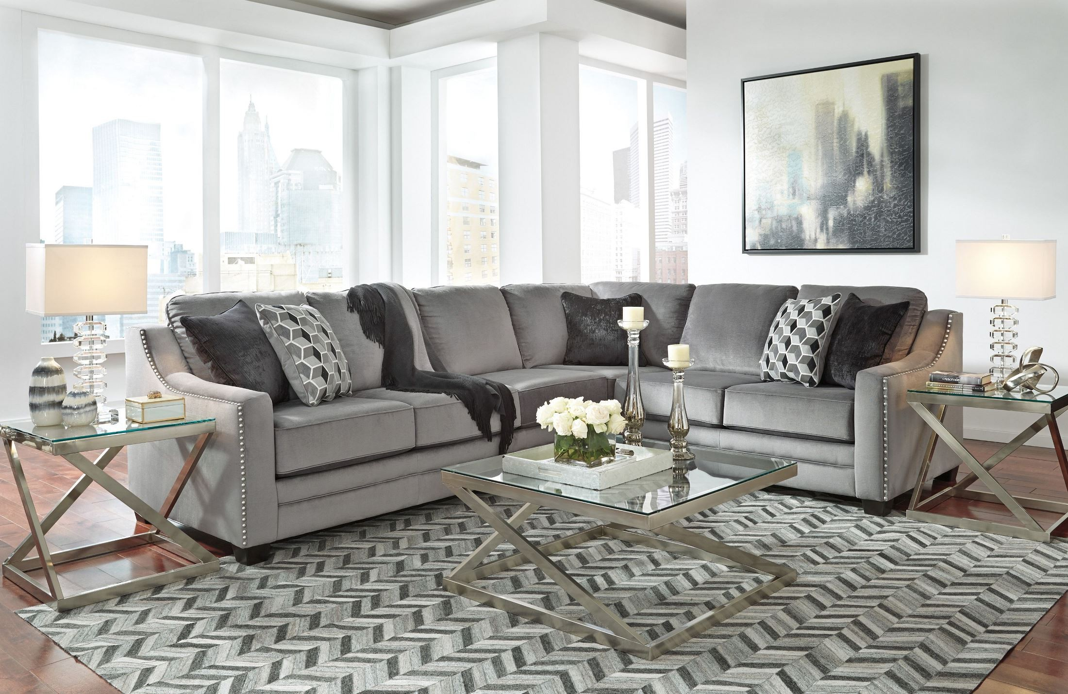 Bicknell Charcoal RAF Sectional from Ashley