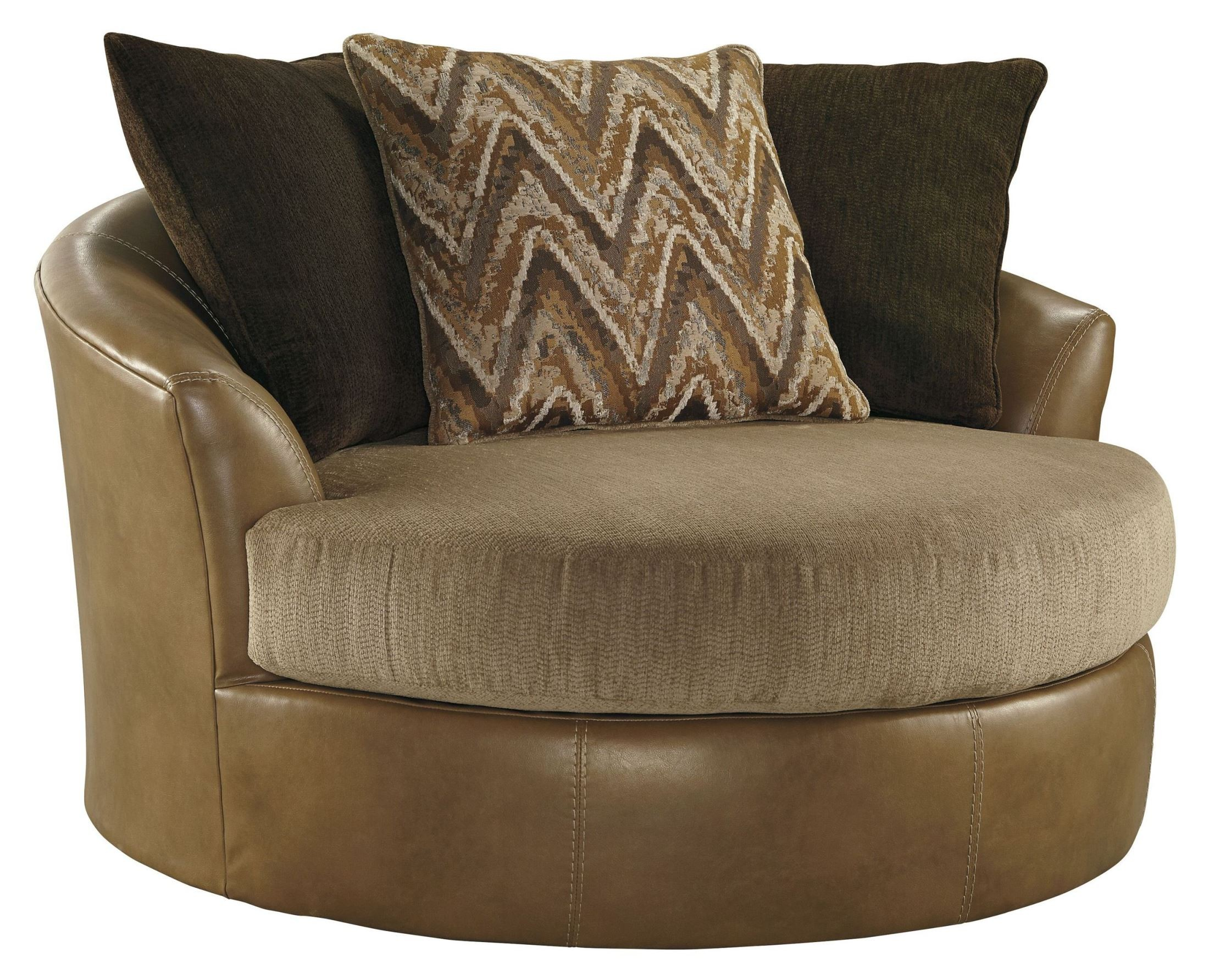 Declain Sand Oversized Swivel Accent Chair From Ashley