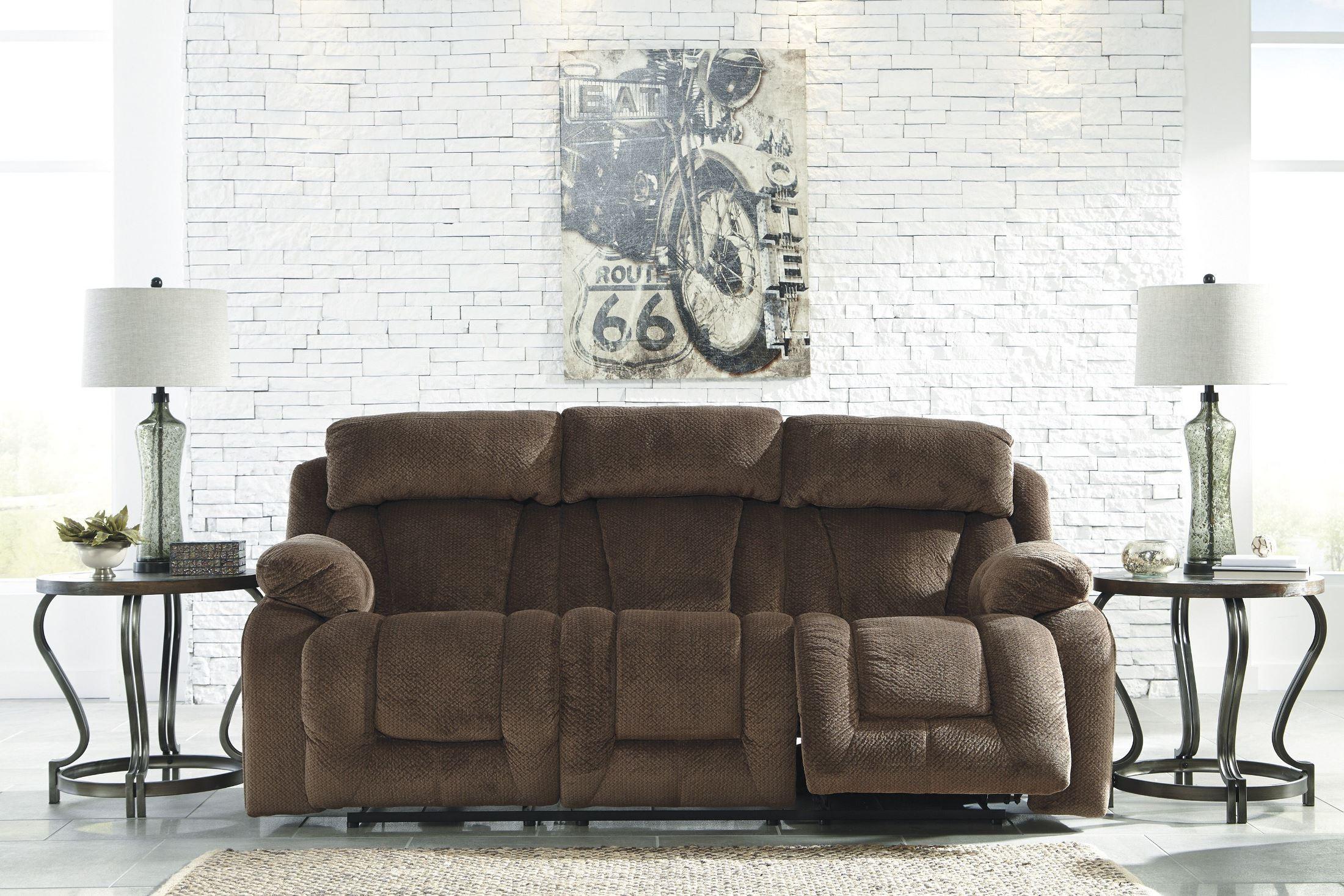 Stricklin Brown Power Reclining Sofa From Ashley 8650387