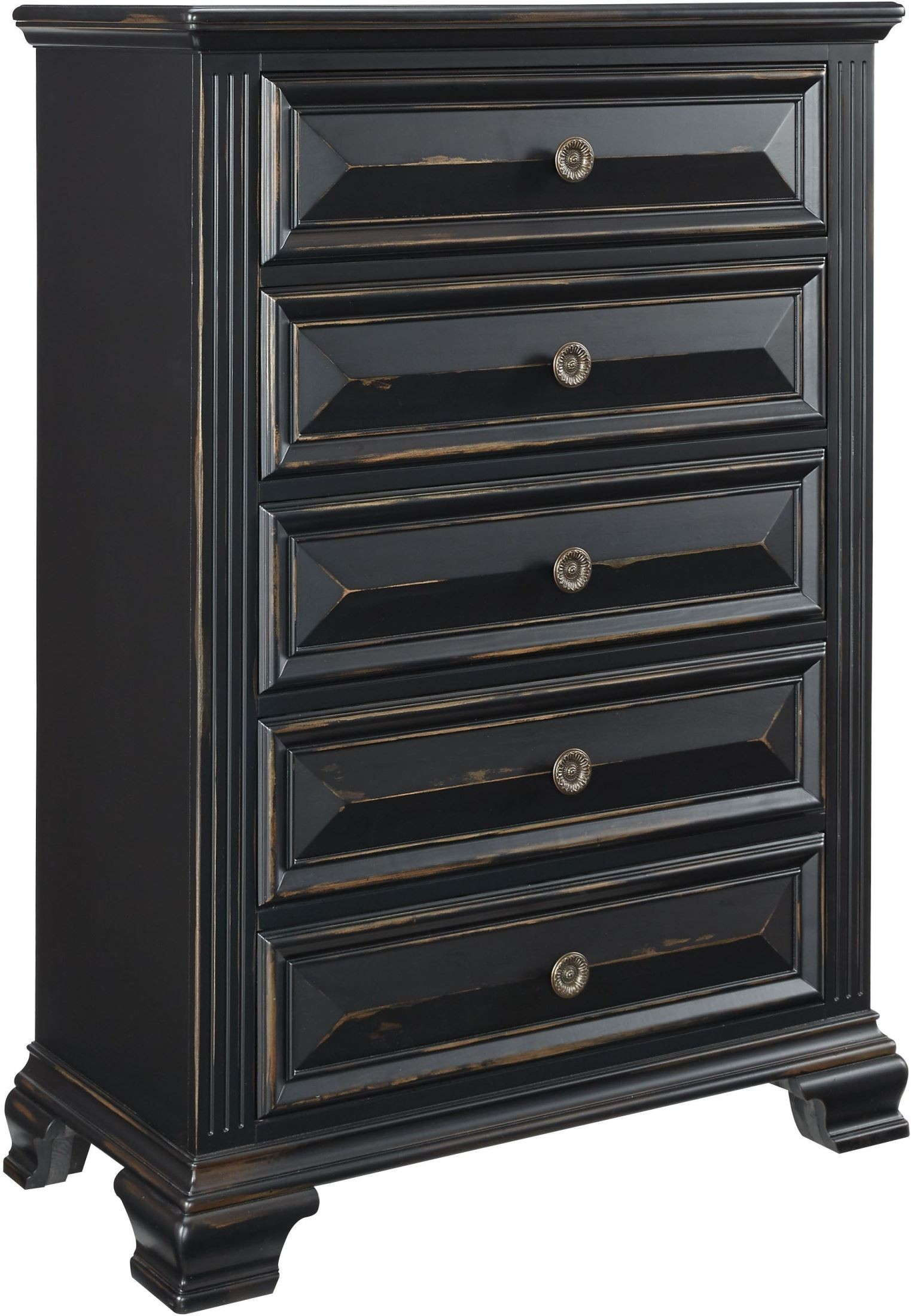 black dresser set passages vintage black panel bedroom set from standard 10857