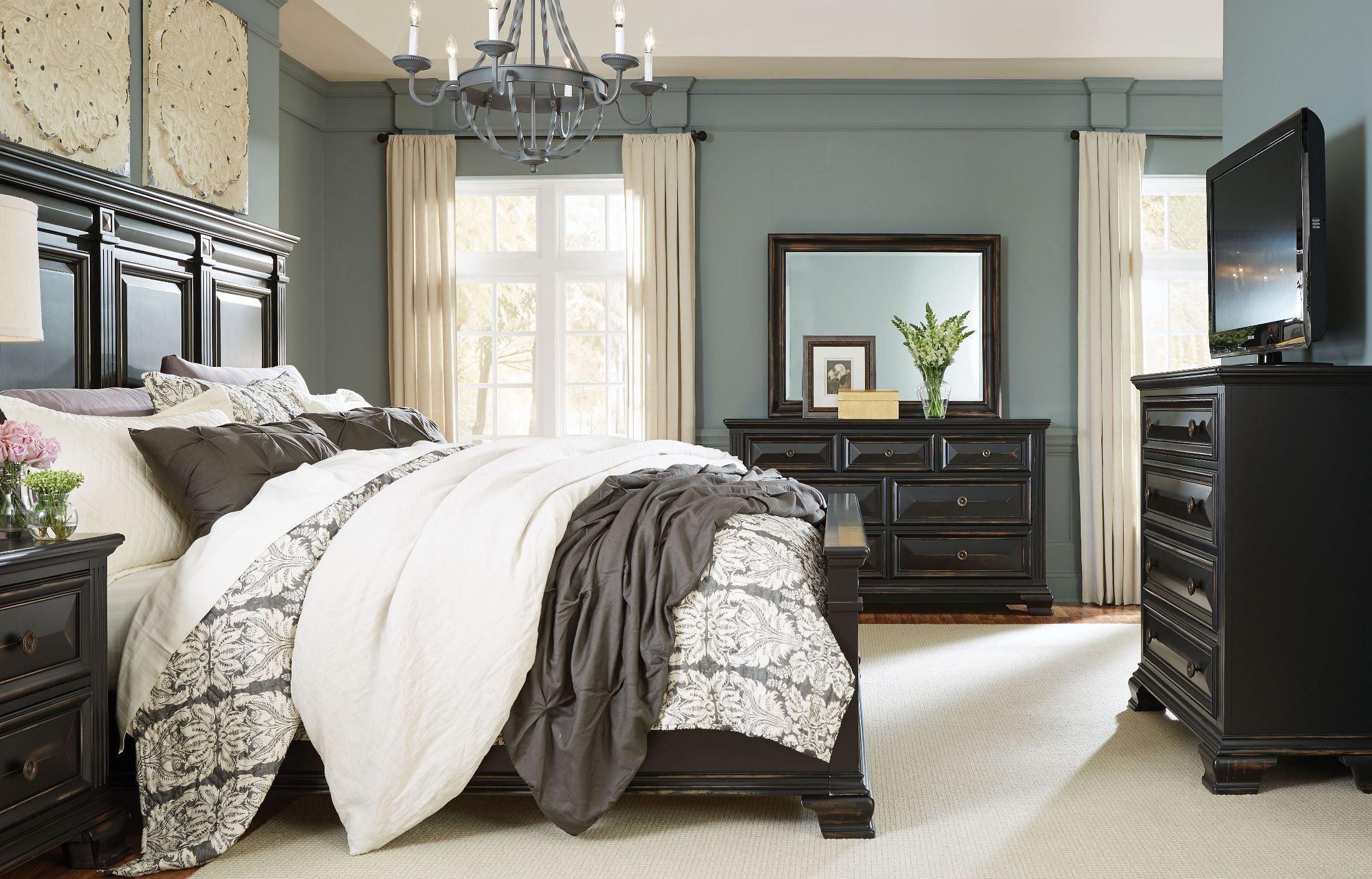 Passages Vintage Black Panel Bedroom Set from Standard Furniture ...