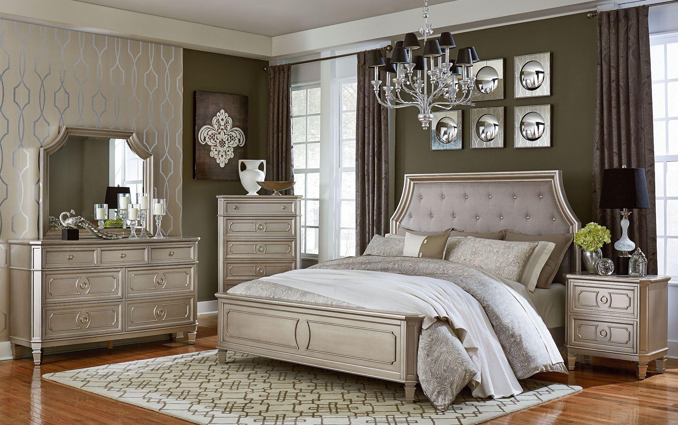 Windsor Silver Panel Bedroom Set from Standard Furniture | Coleman ...