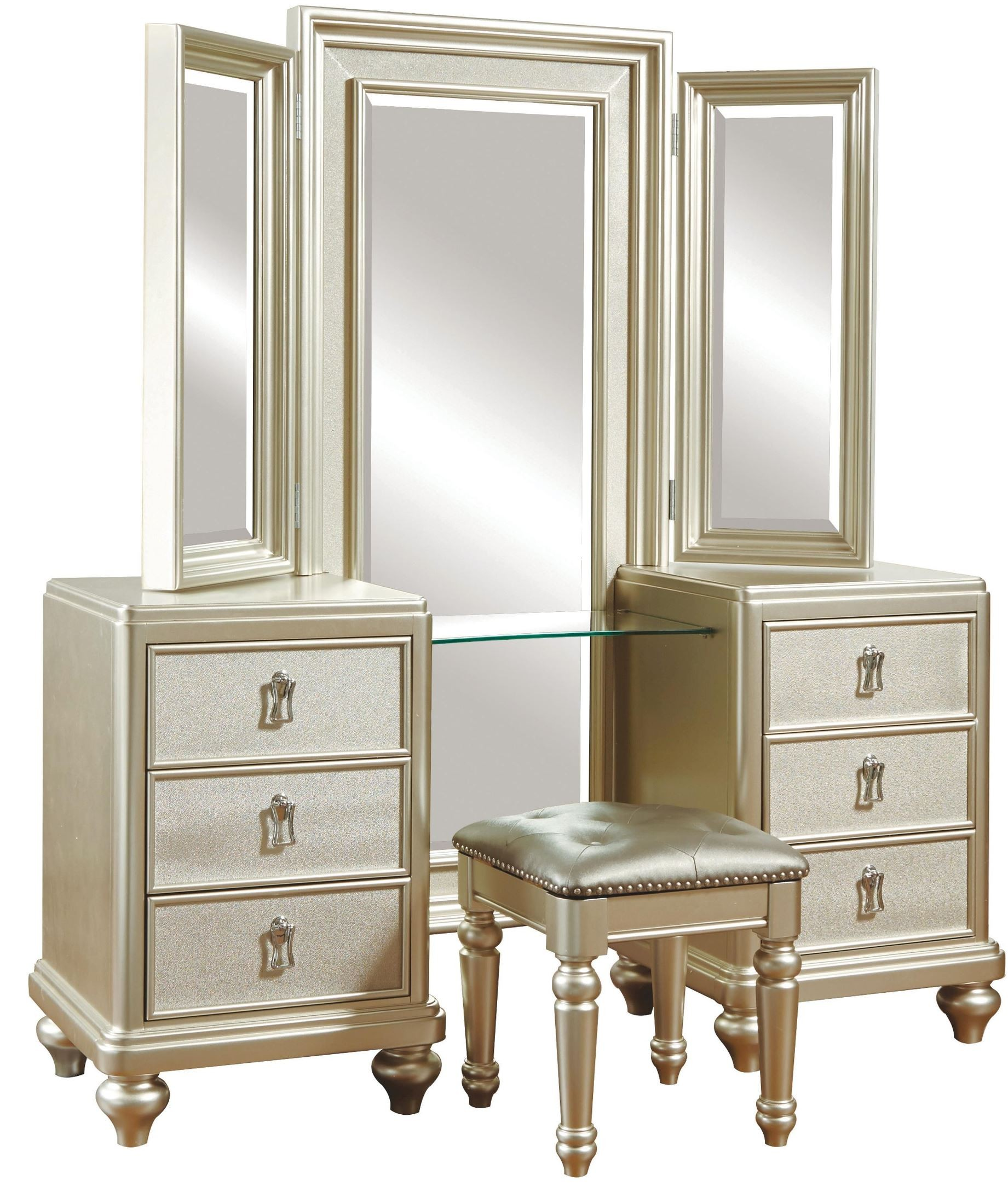 vanity bedroom set metallic vanity dresser with stool from samuel 13717